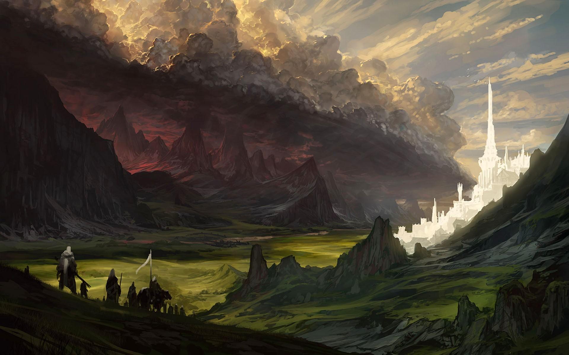 Wallpaper Sunlight Fantasy Art Morning The Lord Of The Rings