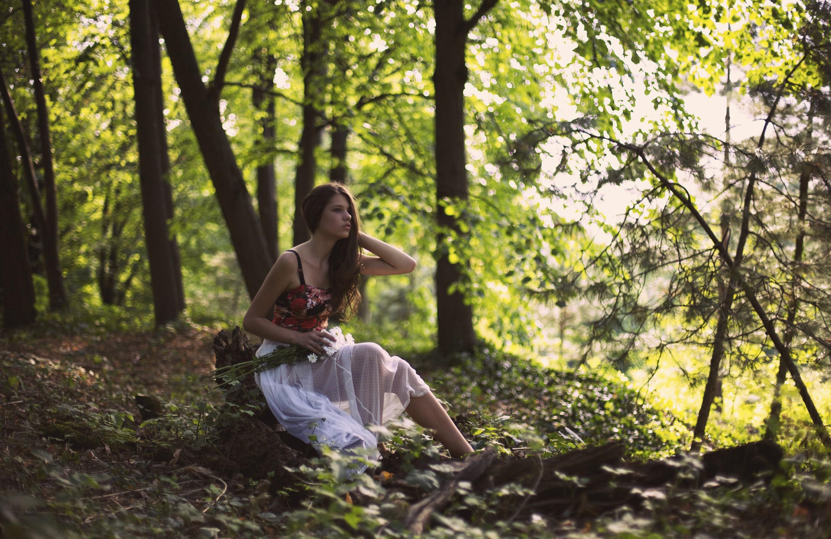 Wallpaper : sunlight, forest, women outdoors, model