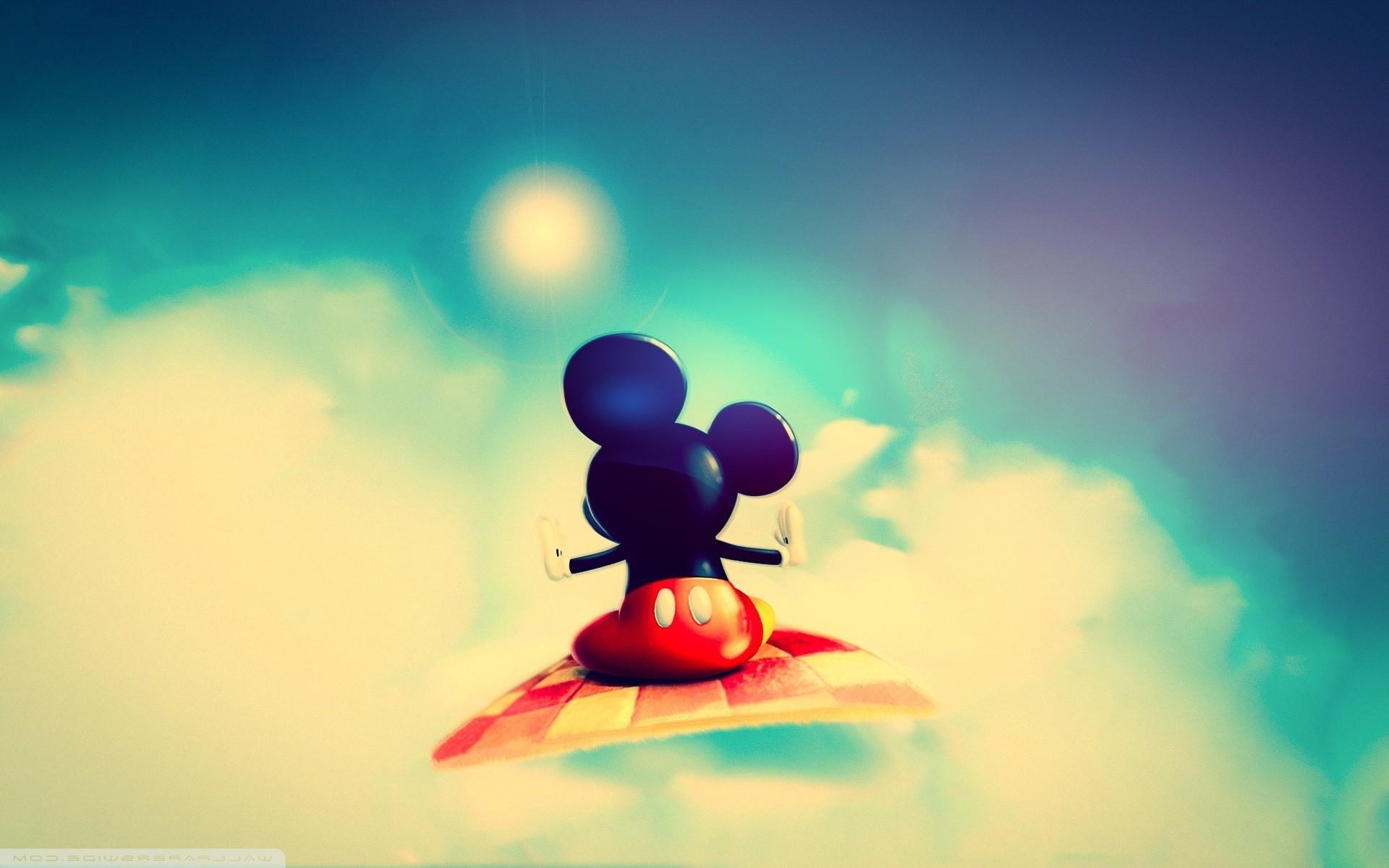 デスクトップ壁紙 日光 図 ミッキーマウス 空 青 サークル 色