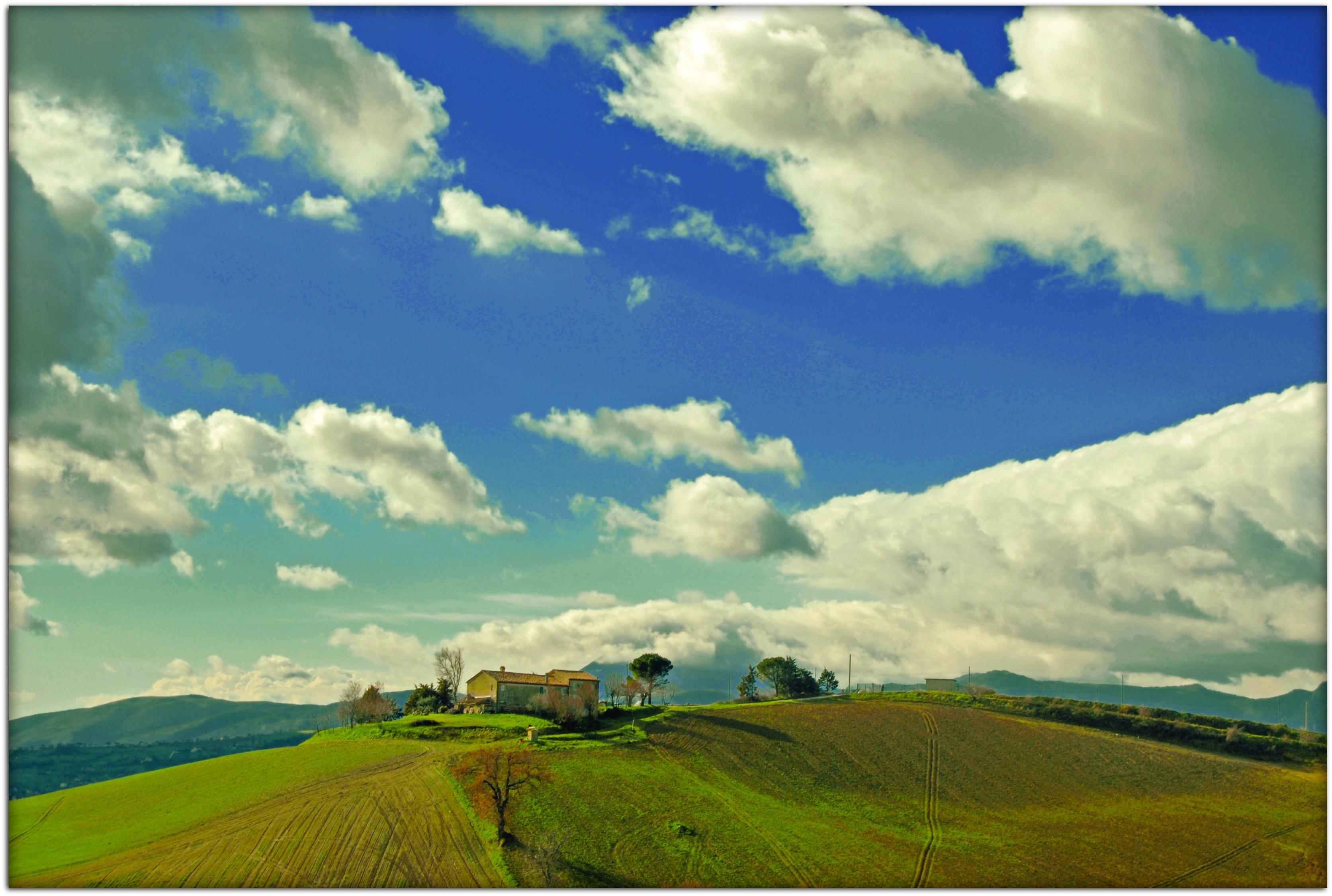 Wallpaper sunlight landscape Italy hill nature grass sky