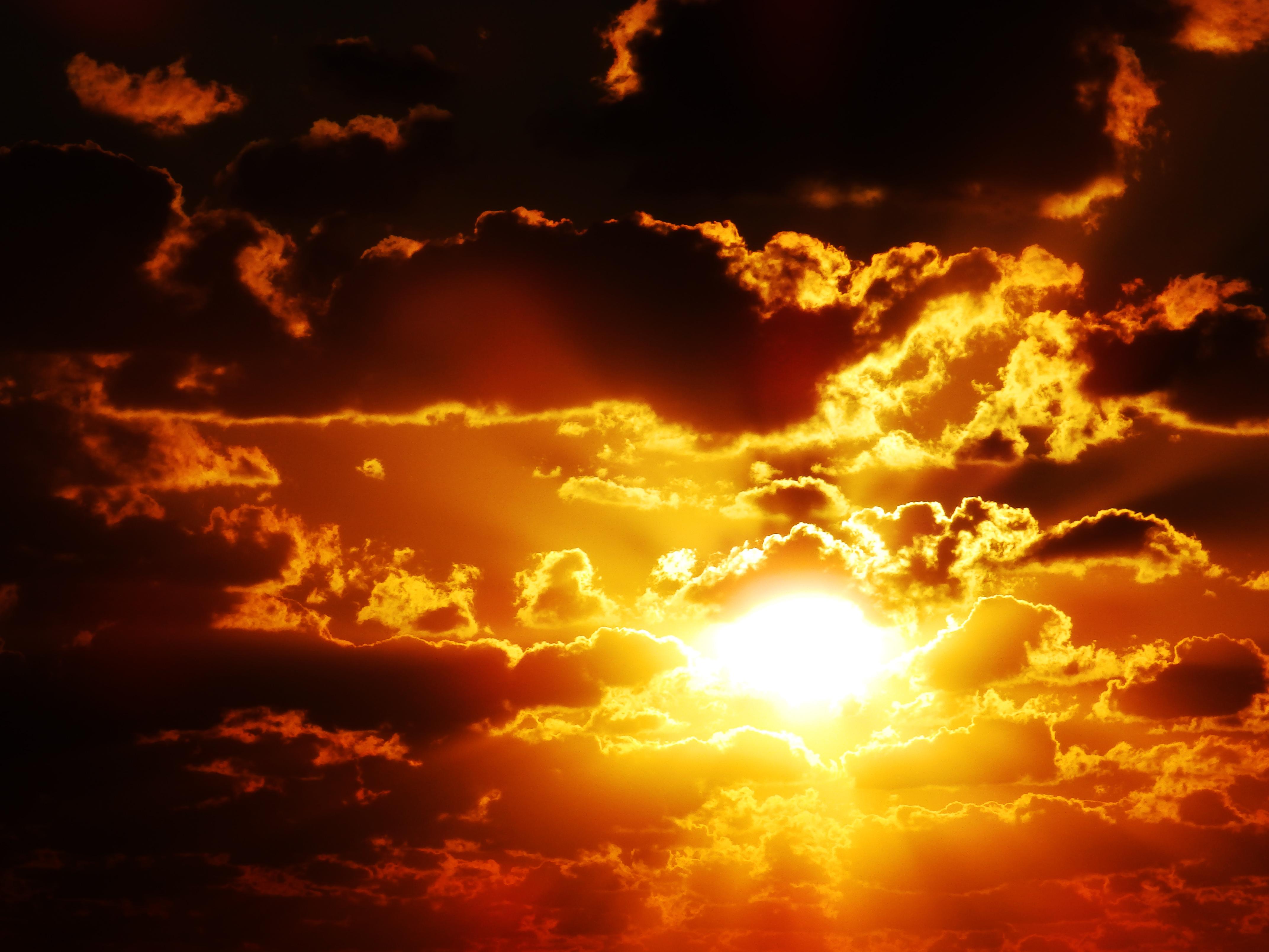 sunlight landscape black sunset sea
