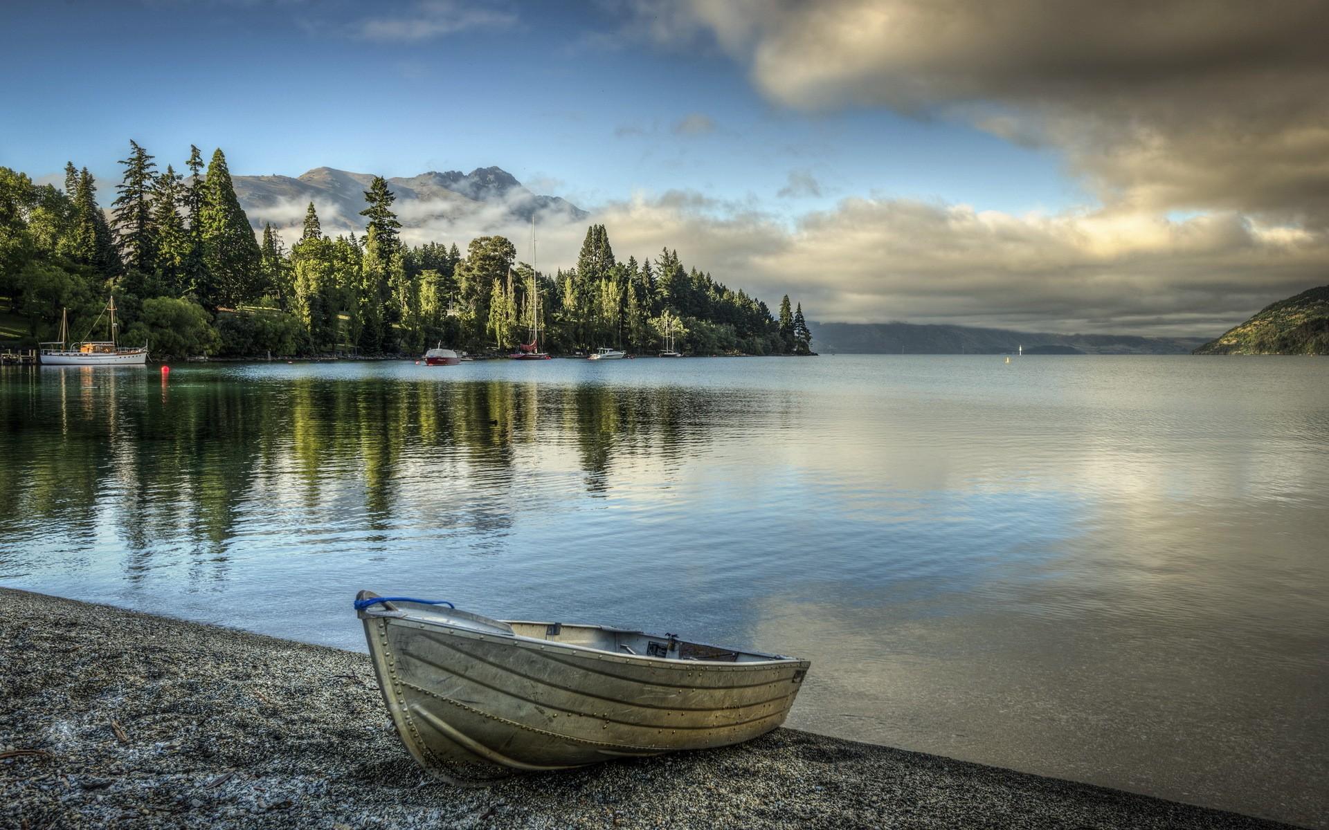 Картинки берег лодки