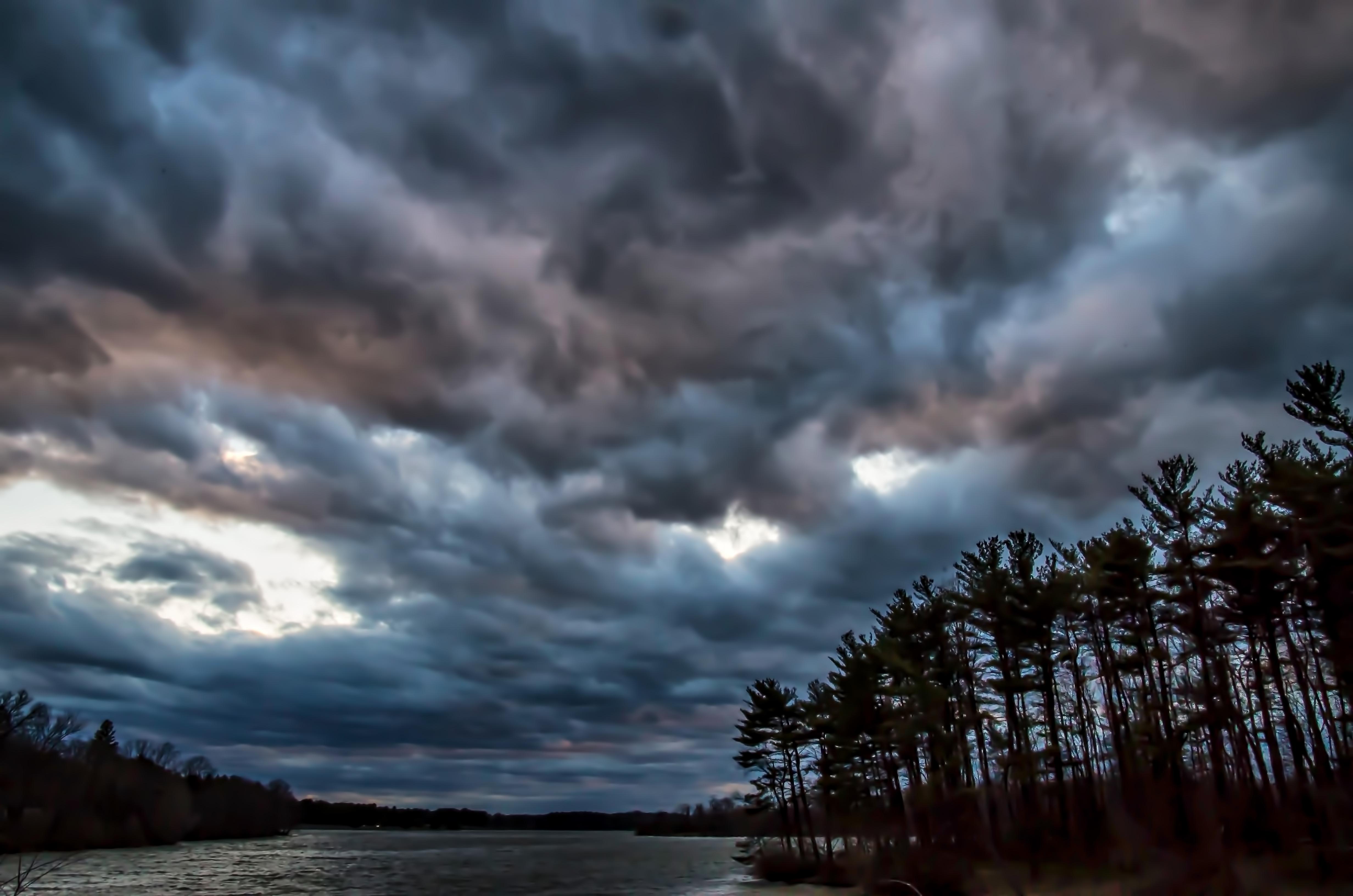 Wallpaper Sunlight Landscape Dark Sunset Sea Lake Water Nature Reflection Sky Outdoors Clouds Calm Storm Evening River Horizon