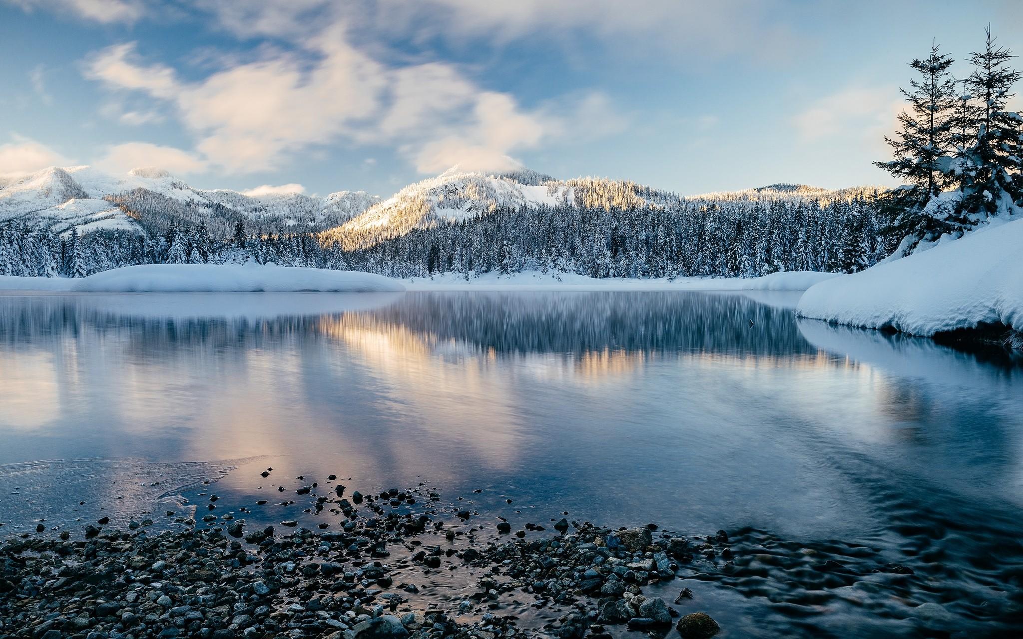 Зима с водой картинки