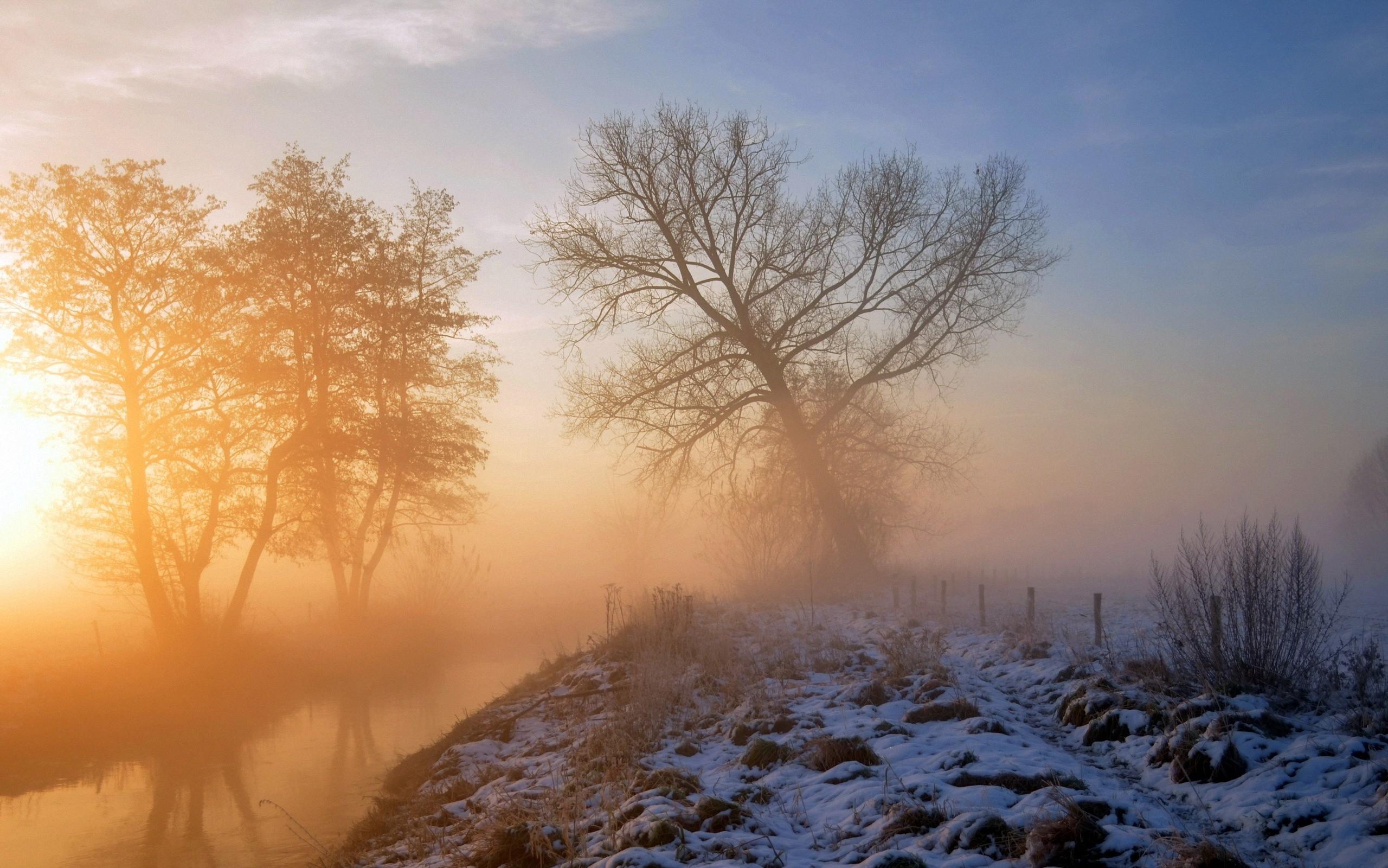 утро солнце снег картинки некоторое время, приехал
