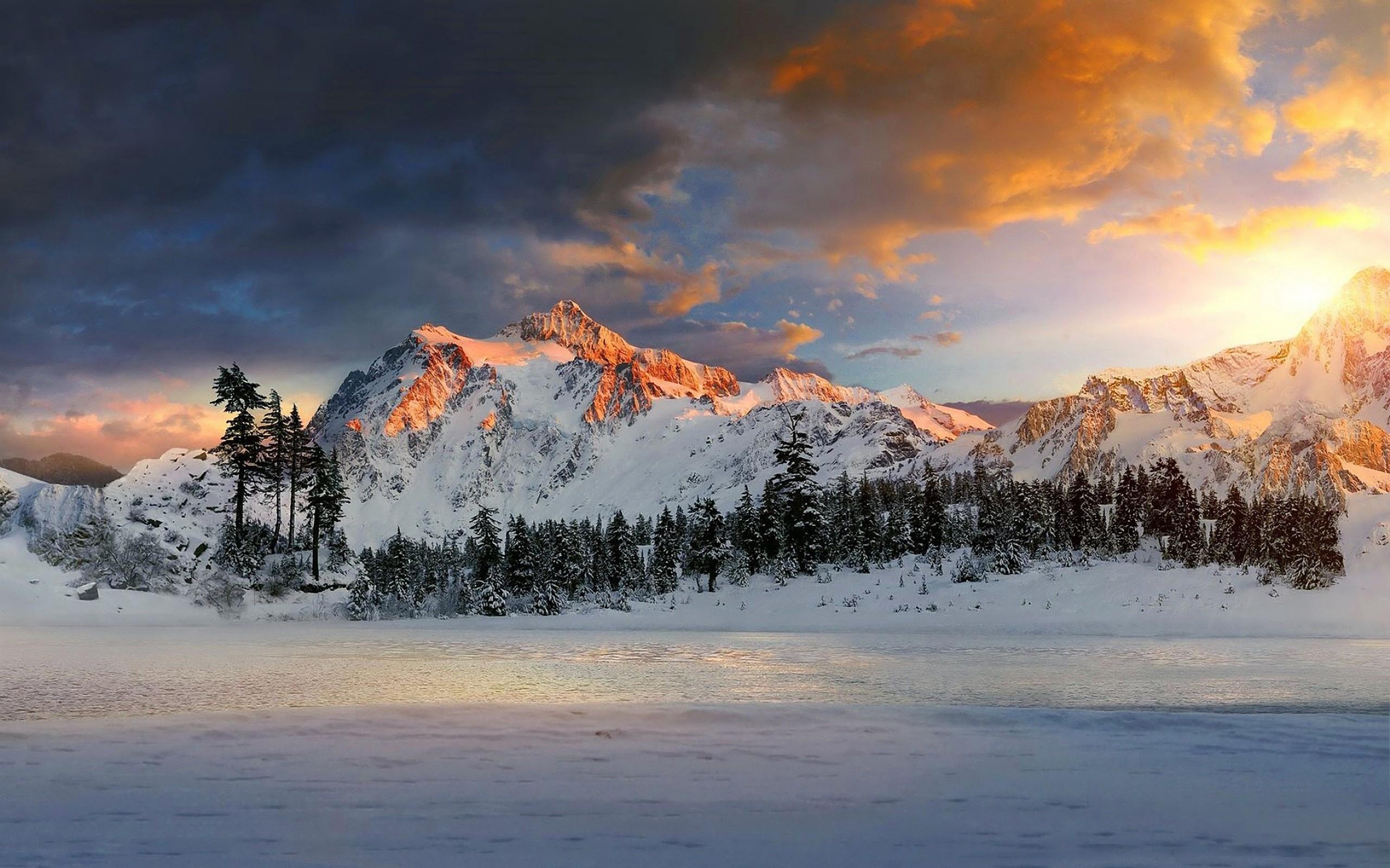 Картинки горы и зима