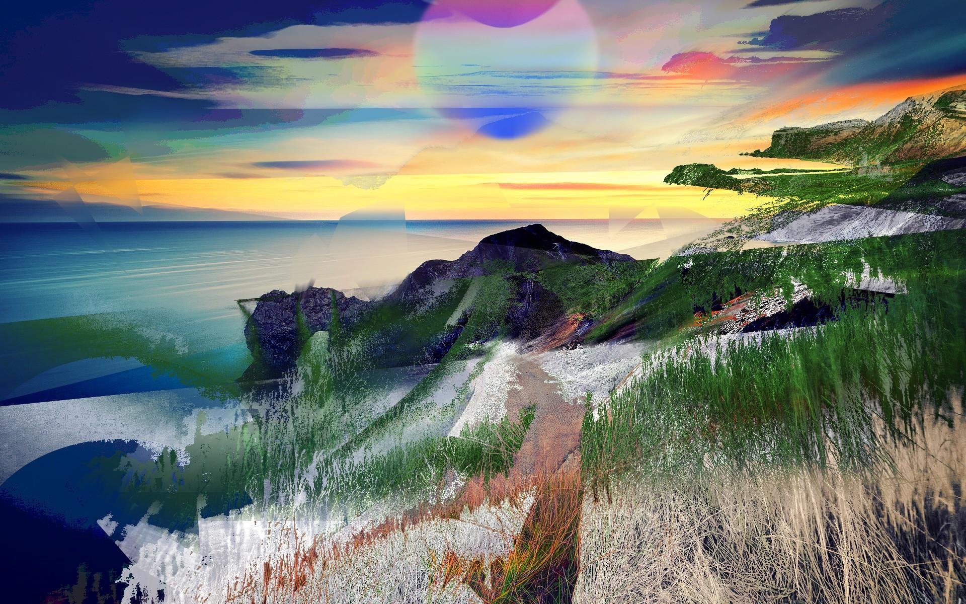 100+ Gambar Abstrak Pemandangan Alam