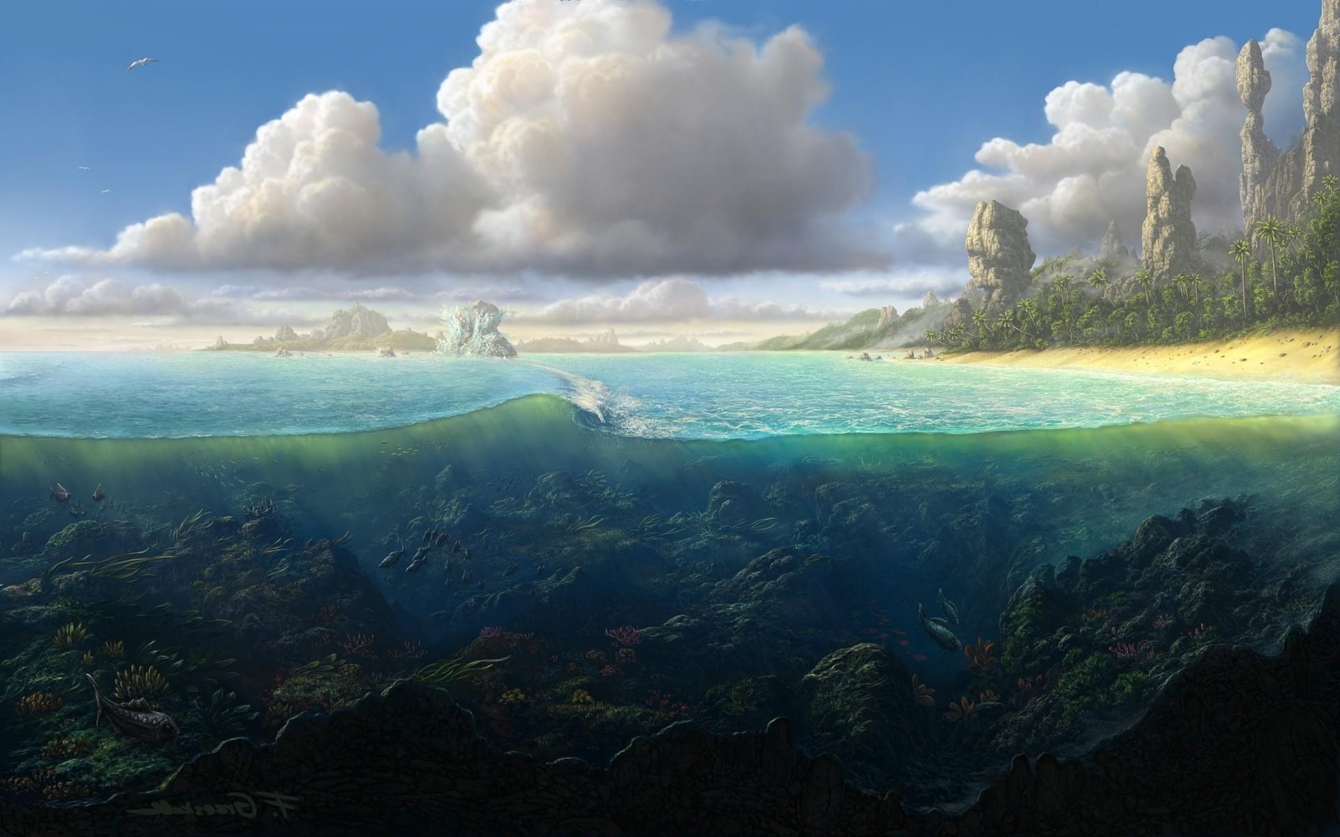 фэнтези картинки природа море милы тут