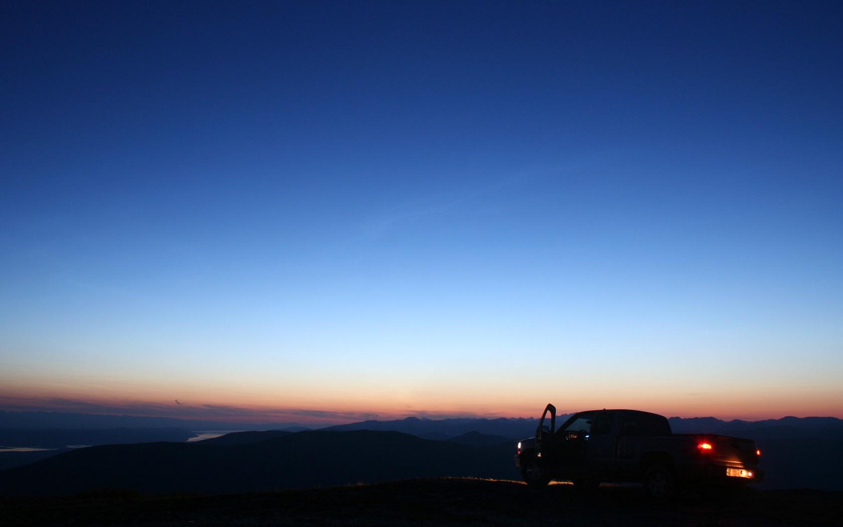 Sunlight Landscape Simple Background Sunset Night Hill Car Sky Vehicle Sunrise Blue Evening Morning Sun