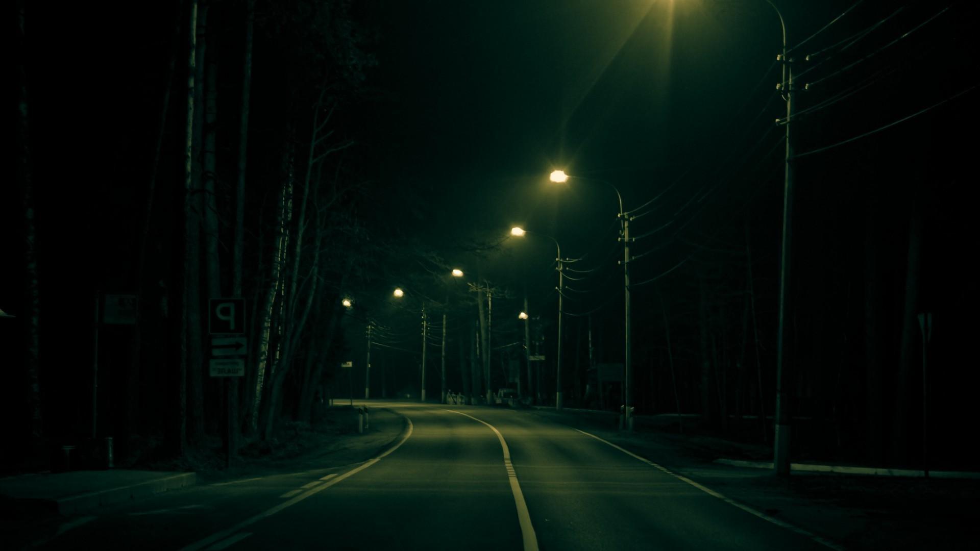 Sunlight Landscape Street Light Night Green Atmosphere Midnight Fog Lighting Darkness 1920x1080 Px Atmospheric Phenomenon