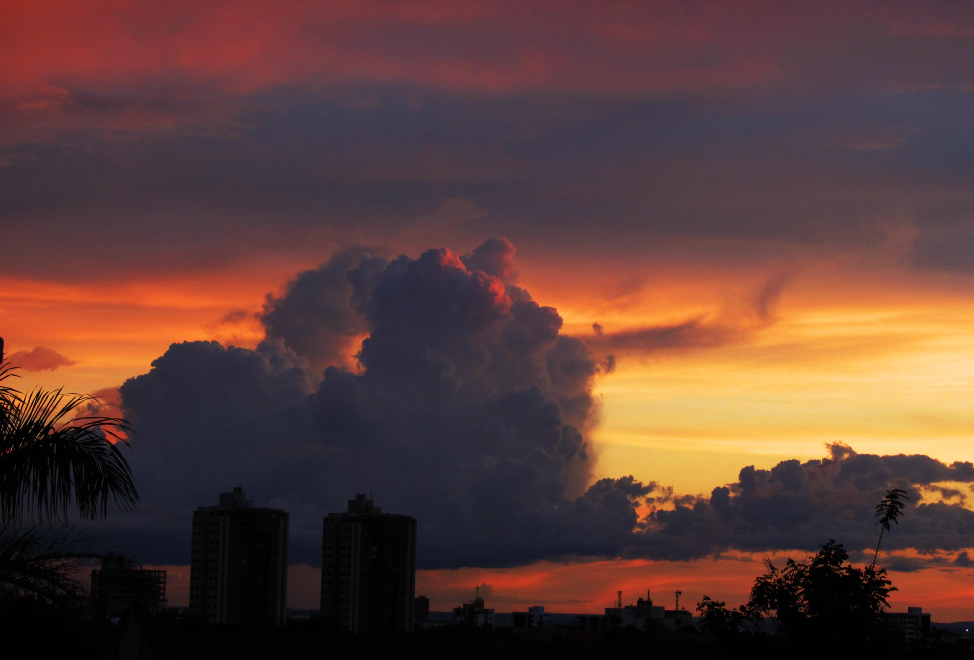 Wallpaper Sunlight Landscape Sunset City Building Clouds