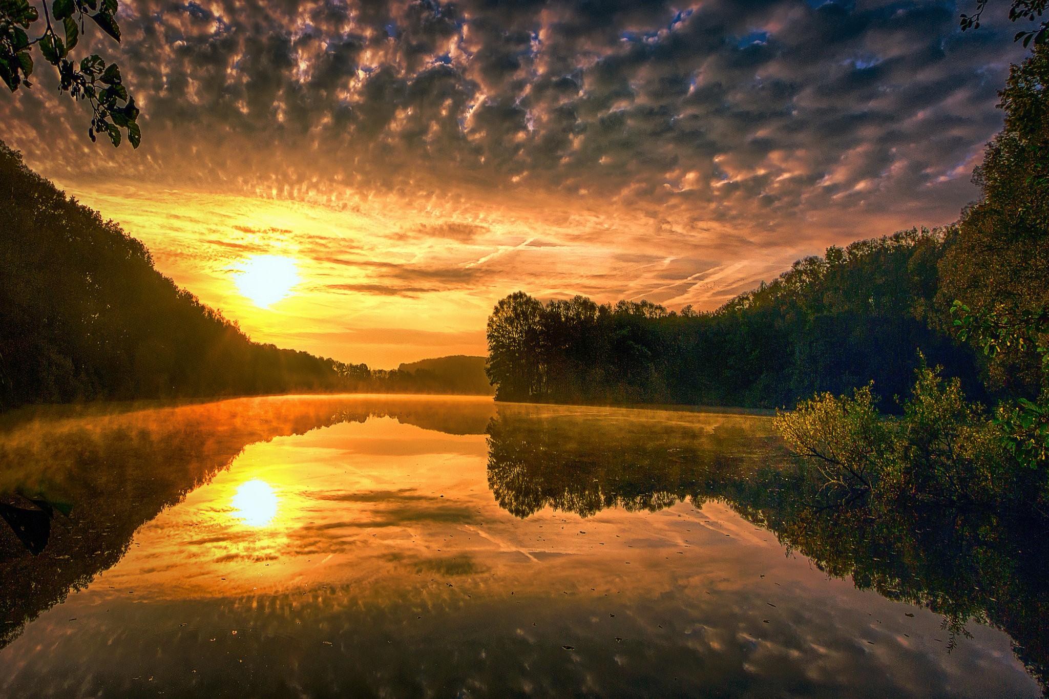 картинка солнечного вечера кисти позолоченные