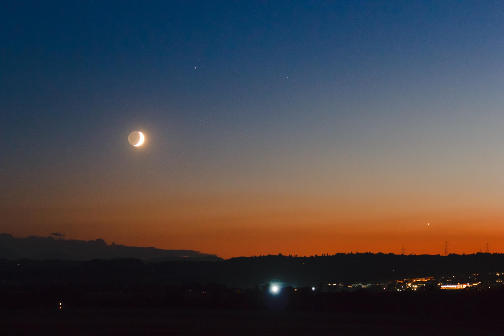 картинки луны или заката на небе пятитысячные
