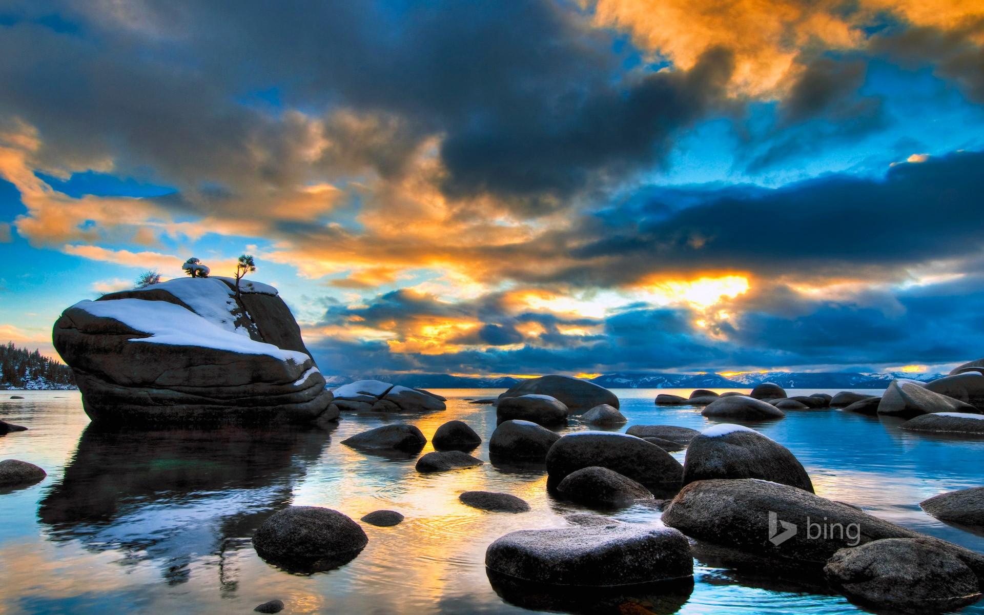 солнце вода камни картинки