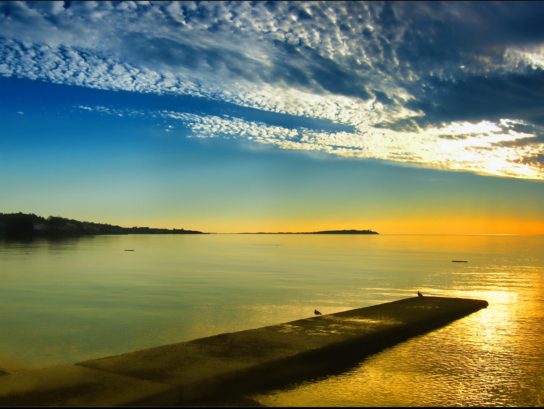 Wallpaper Sinar Matahari Pemandangan Matahari Terbenam Laut