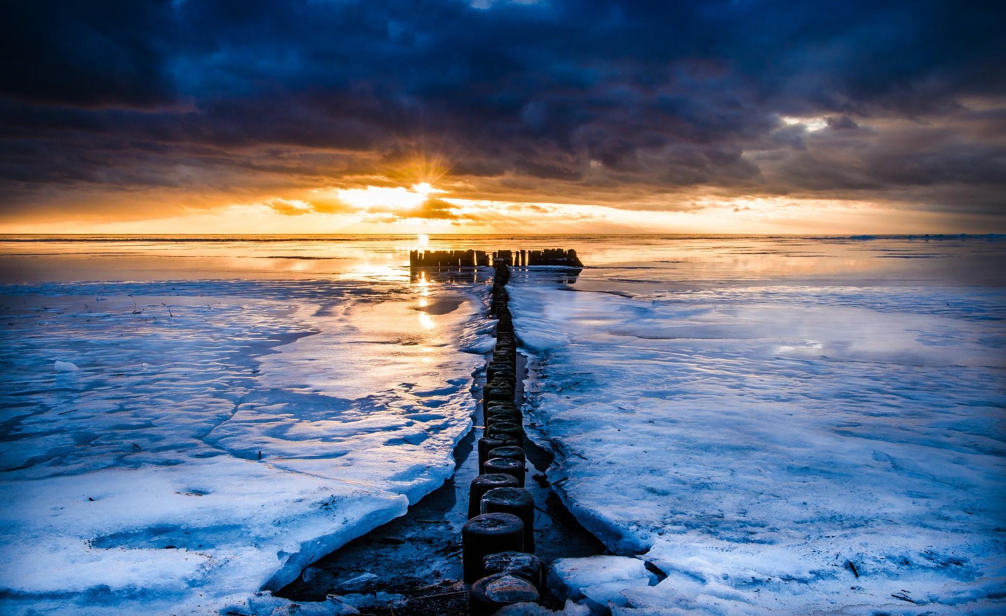 лет голубое море фотографии зимой клумбу можно