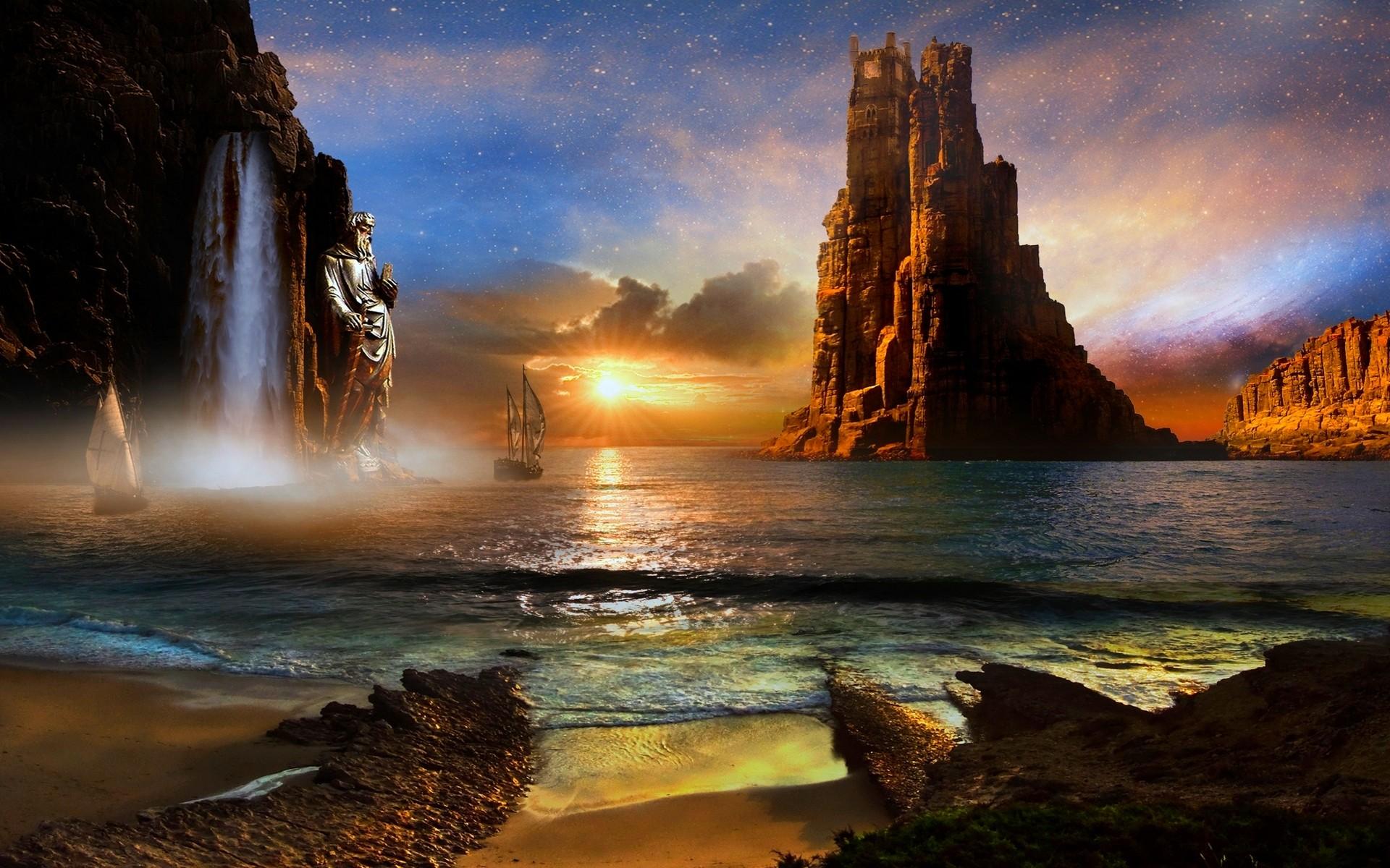 Sea Rocks Digital Photo Wallpaper