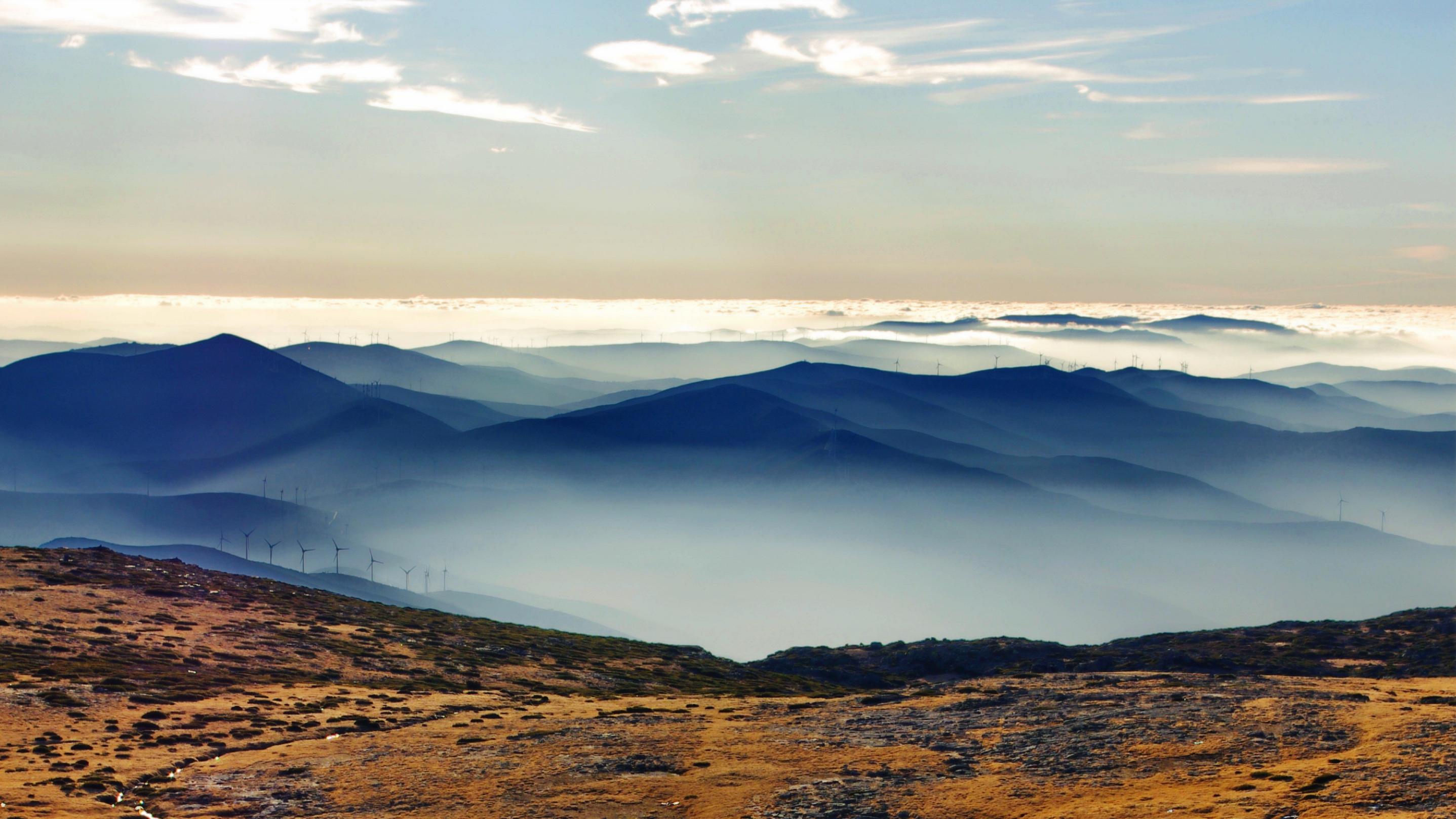 デスクトップ壁紙 日光 風景 白 黒 山々 見積もり 窓 日没