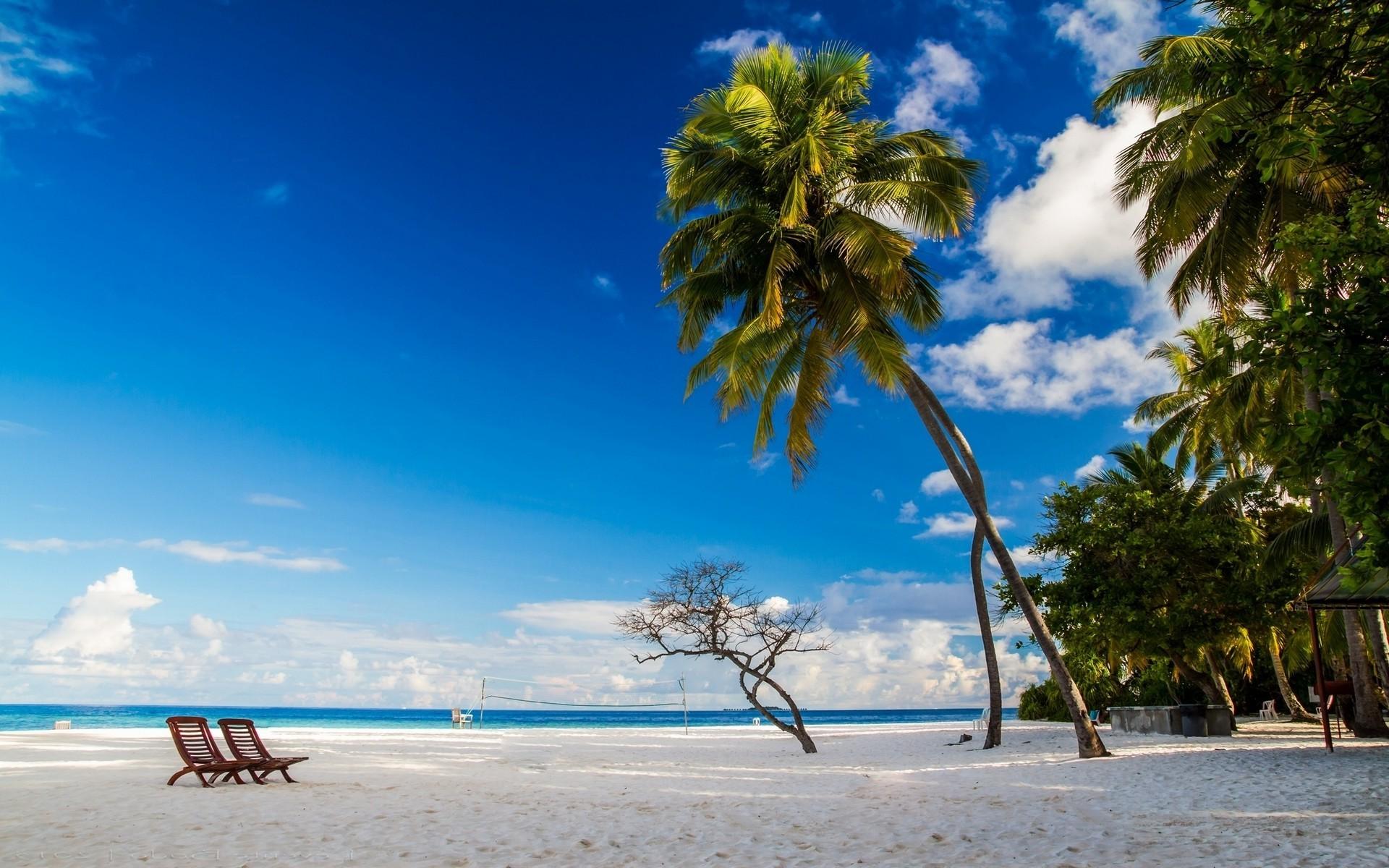 Wallpaper Sunlight Landscape White Sea Bay Nature Shore Sand Sky Beach Blue Chair Morning Coast Palm Trees Horizon Tropical Island