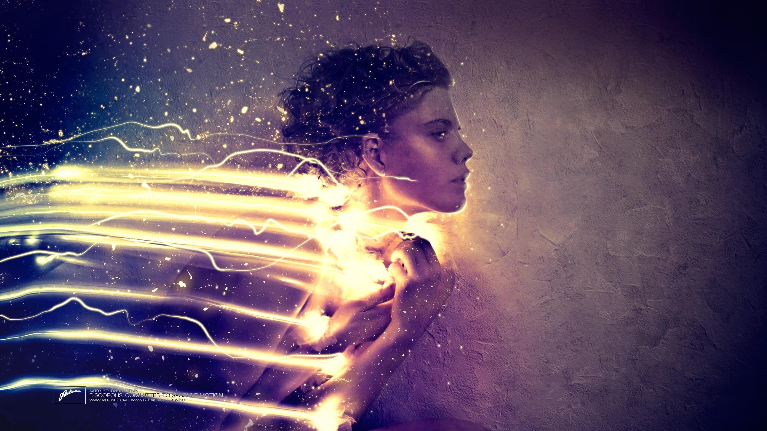 Wallpaper Sunlight Lights Night Reflection Angel Blue