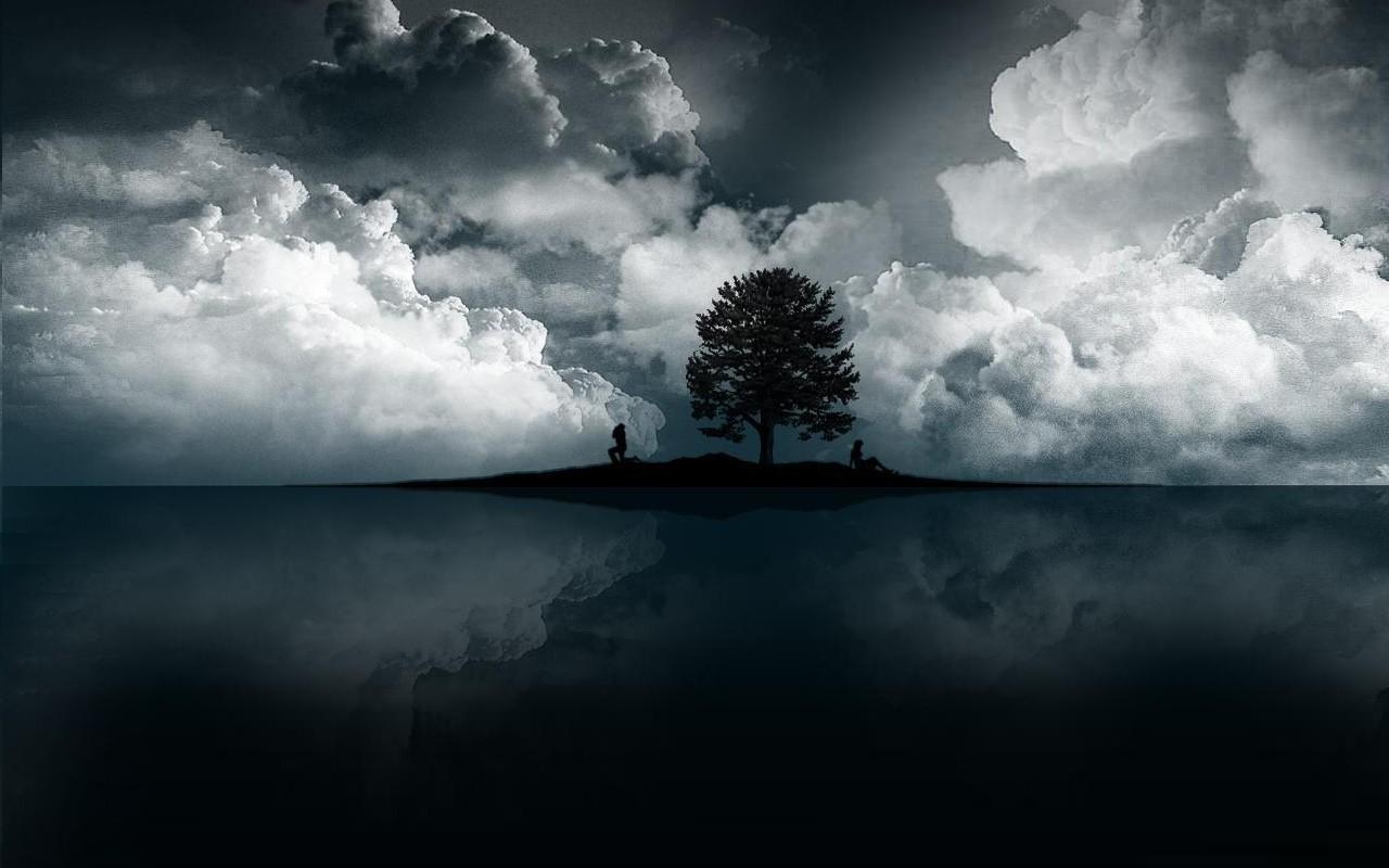 Fond d'écran : lumière du soleil, Monochrome, mer, réflexion, ciel, des nuages, orage, Matin ...