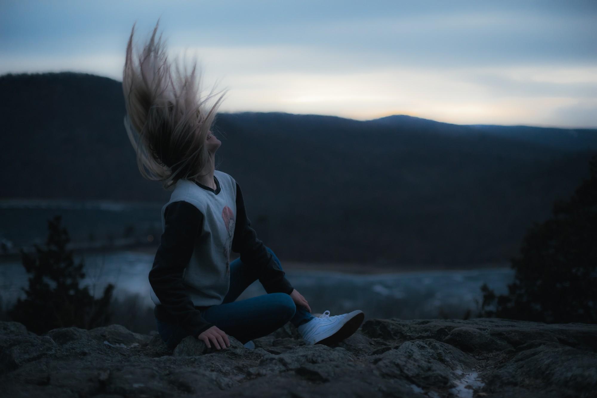 Волосы ночью картинки