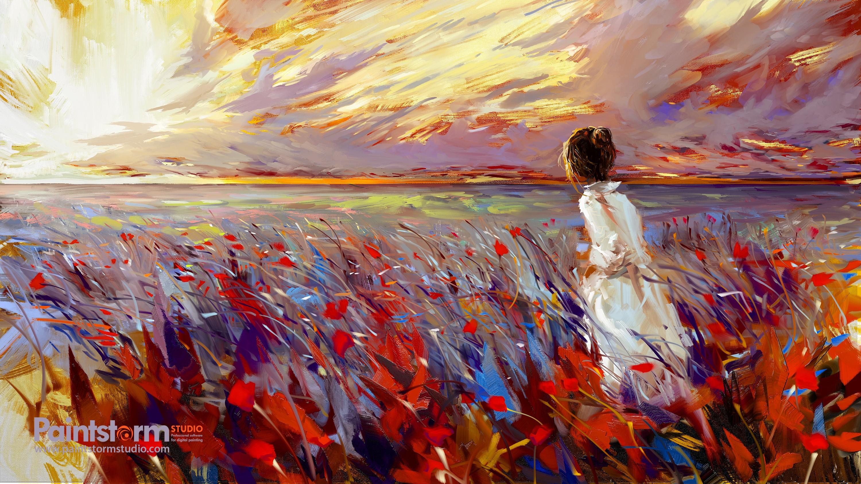 fond d u0026 39  u00e9cran   lumi u00e8re du soleil  la peinture  art