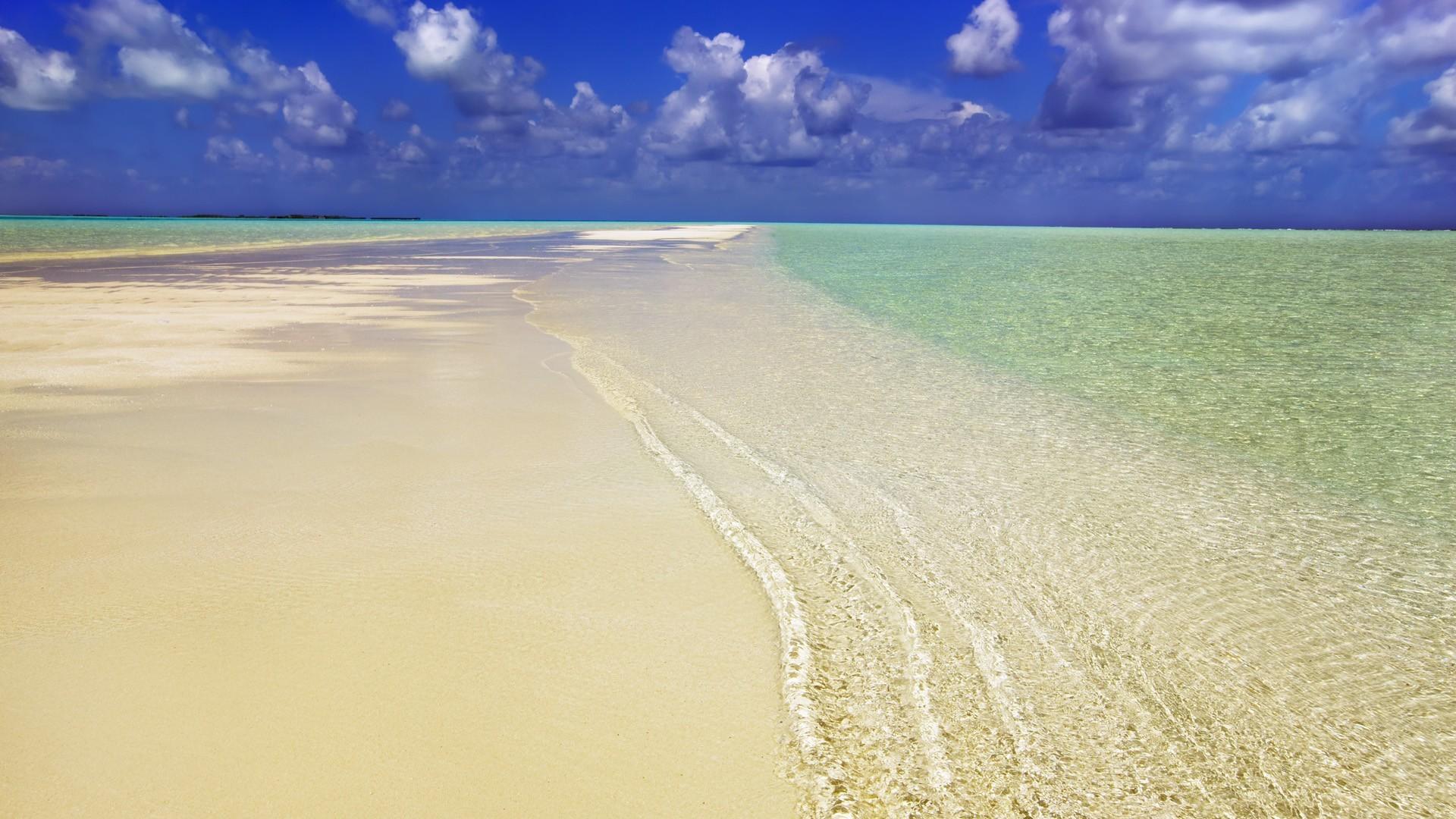 признается обои на экран море пляж песок голубая вода первый