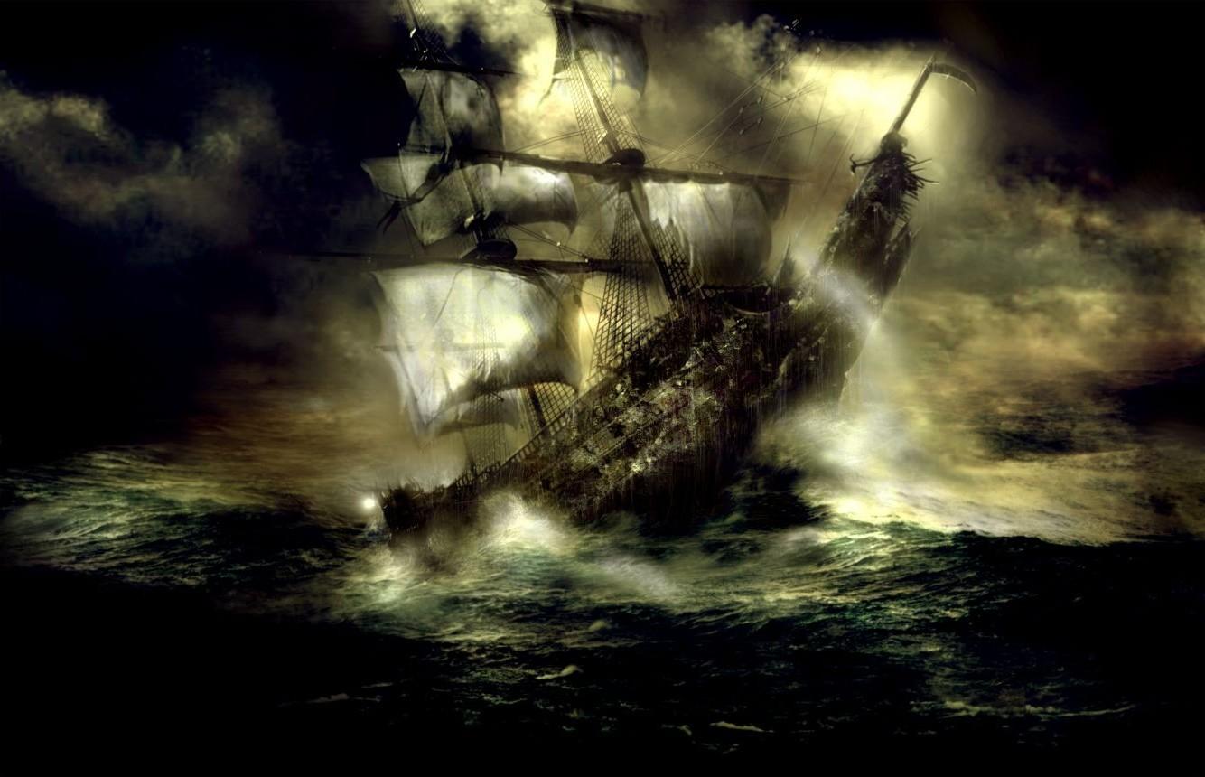 картинки пиратских парусников в шторм результате долгих поисков