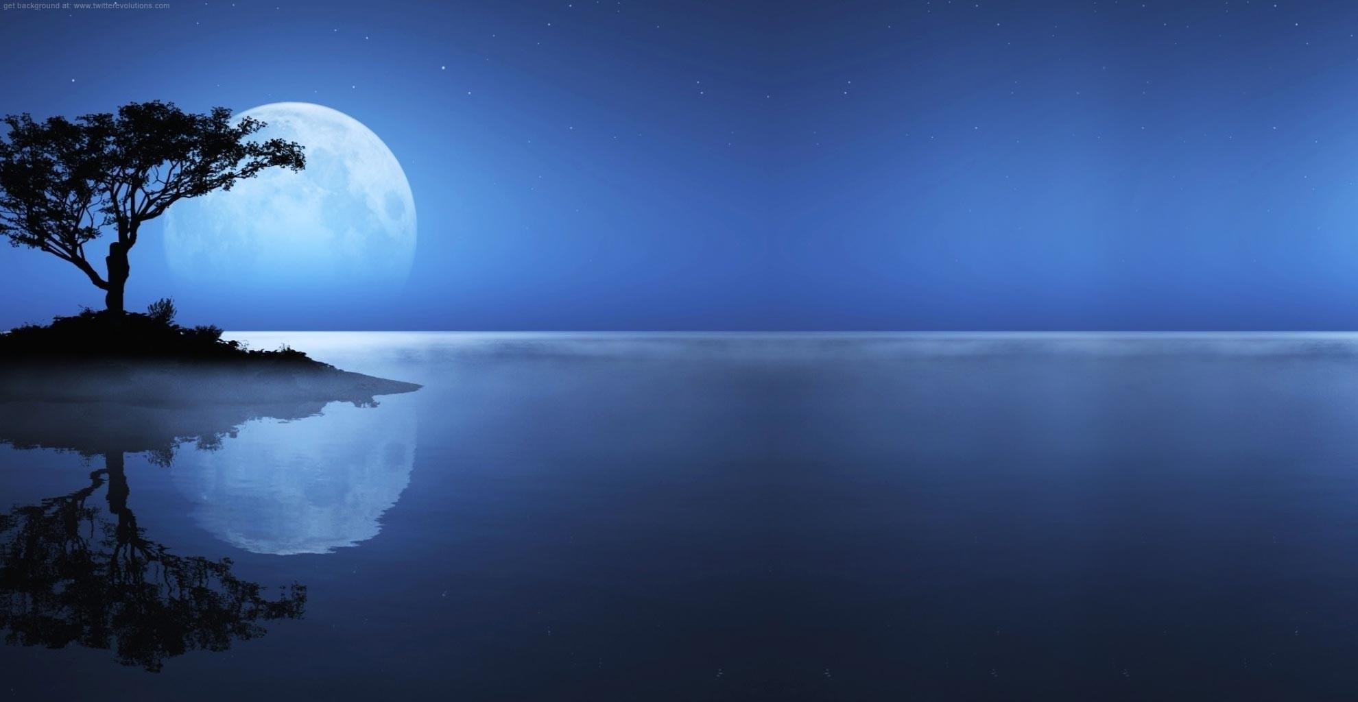 Papel De Parede Luz Solar Mar Noite Reflexao Ceu Terra