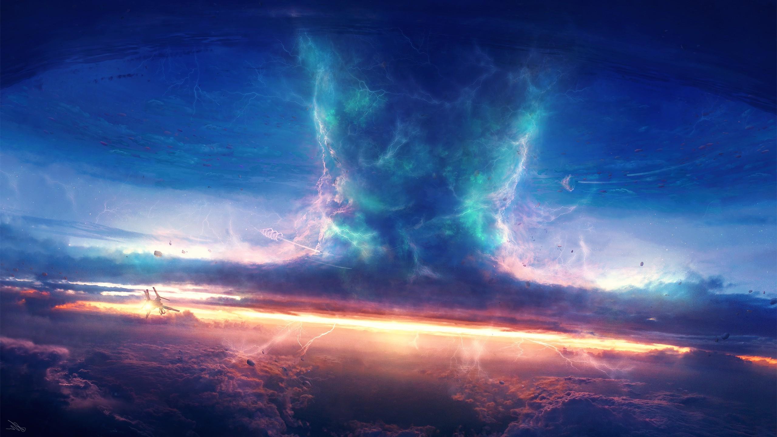 Sunlight Sky DeviantArt Sunrise Atmosphere Tornado Thunder Cloud 2560x1440 Px Of Earth Outer Space