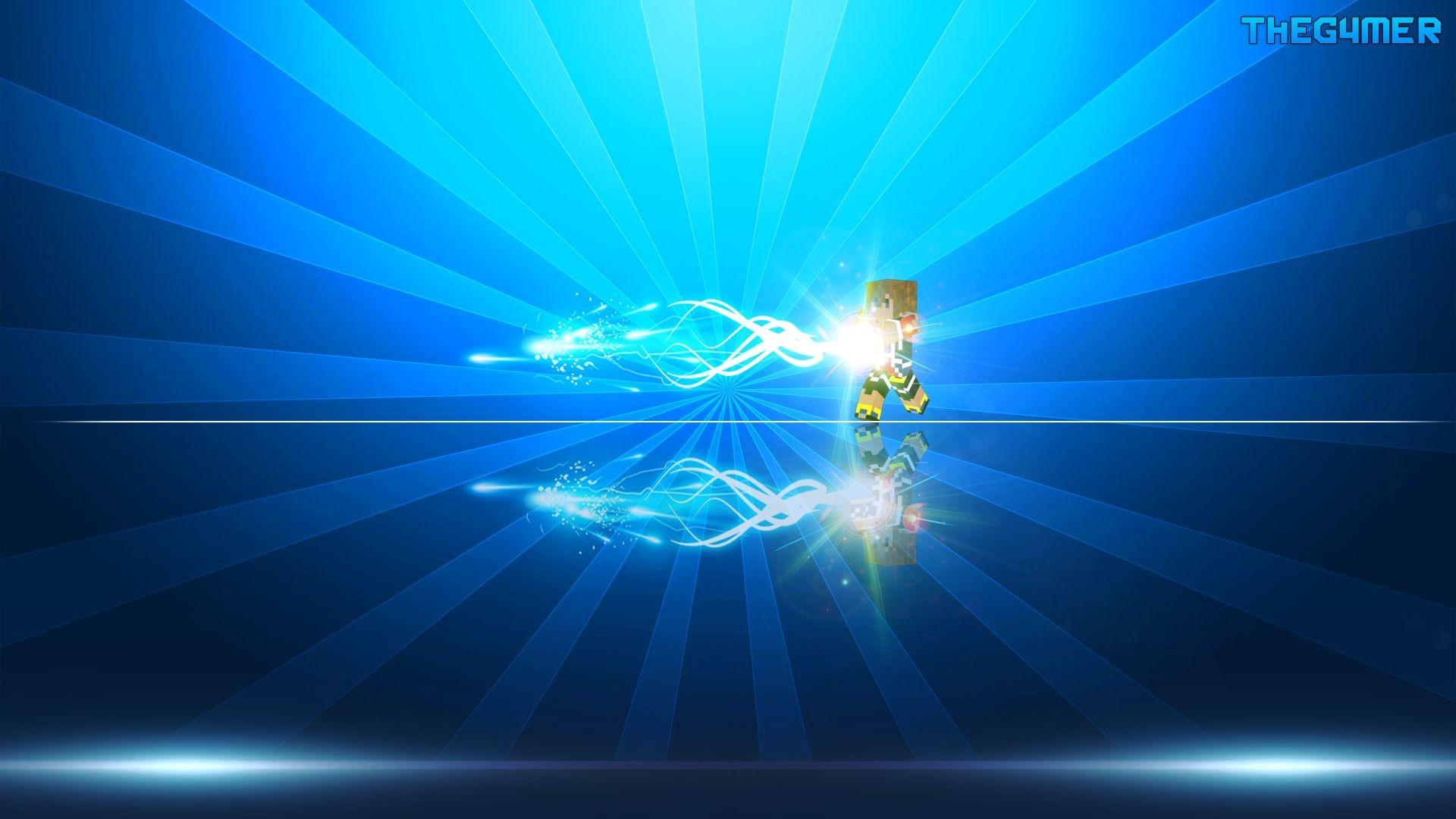 Sunlight Space Minecraft Blue Circle Lens Flare Light Shape Line Screenshot Computer Wallpaper