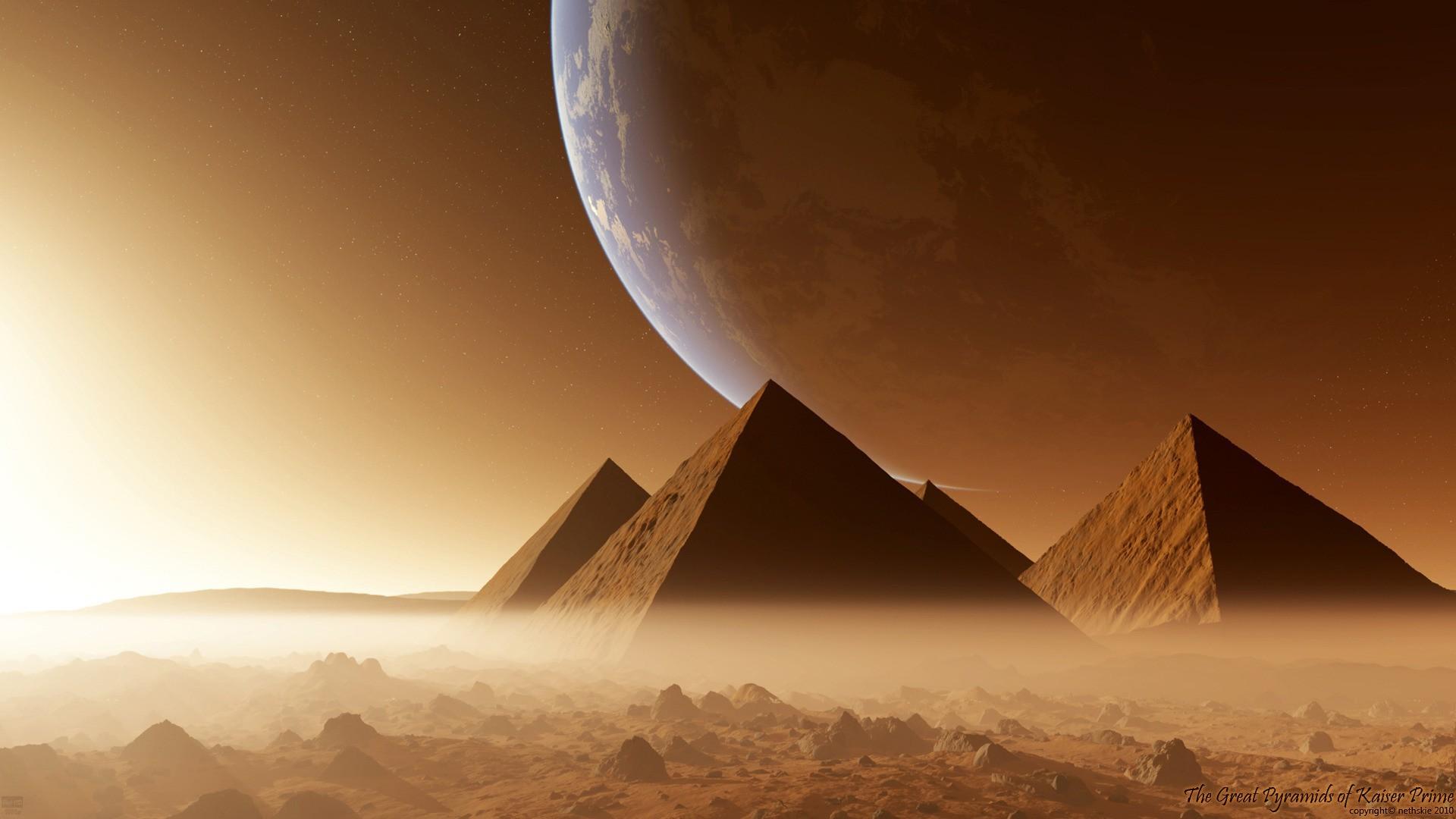 Fond D Ecran Lumiere Du Soleil Art De L Espace Atmosphere Pyramide Egypte Monument Capture D Ecran Papier Peint De L Ordinateur Atmosphere De La Terre 1920x1080 Mbourrig 223556 Fond D Ecran