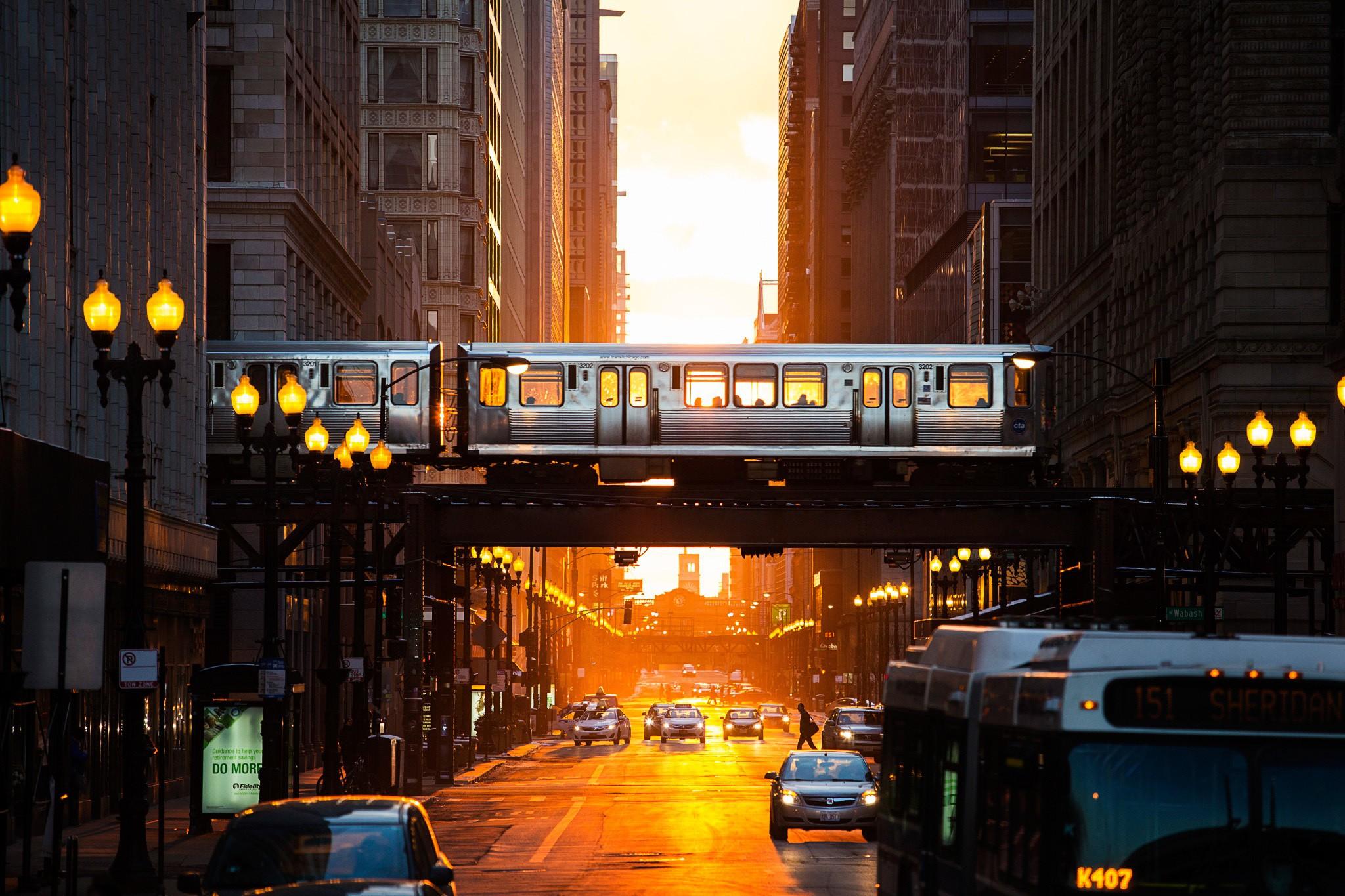 Wallpaper Sunlight Street Light Sunset City Cityscape Night