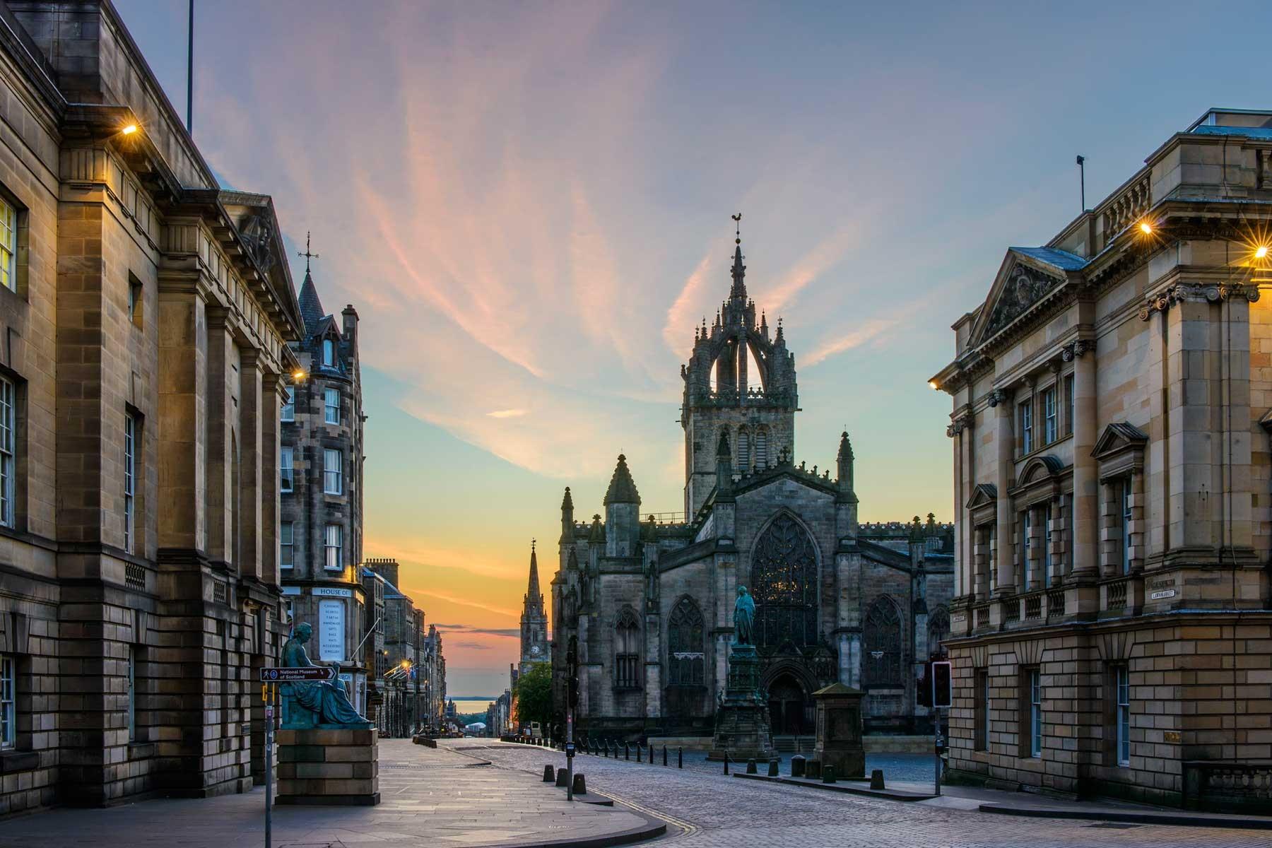 Обои Облака, эдинбург, Шотландия, свет, дома. Города foto 15