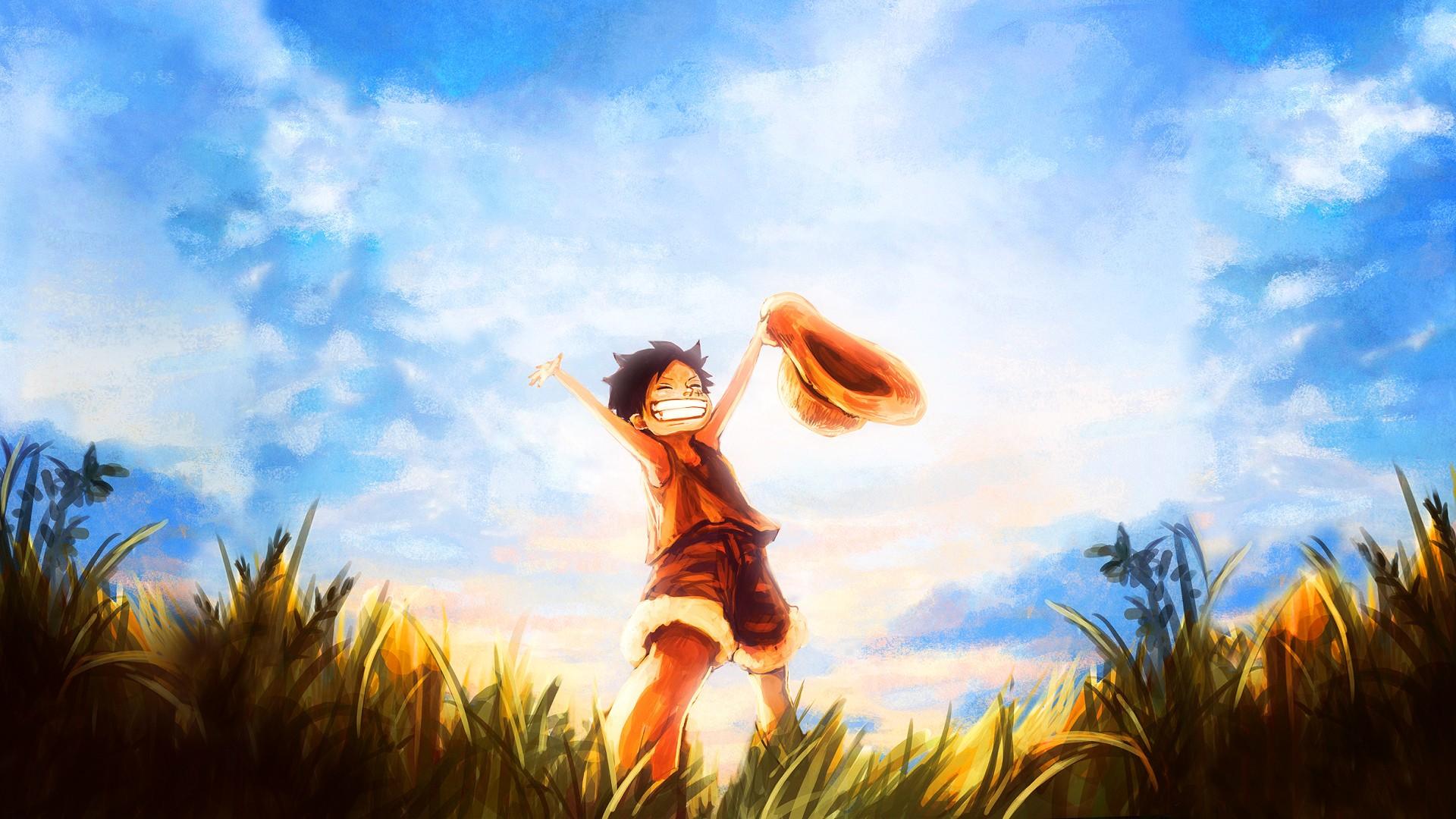 Wallpaper Sunlight Sunset Anime Boys Sky Clouds
