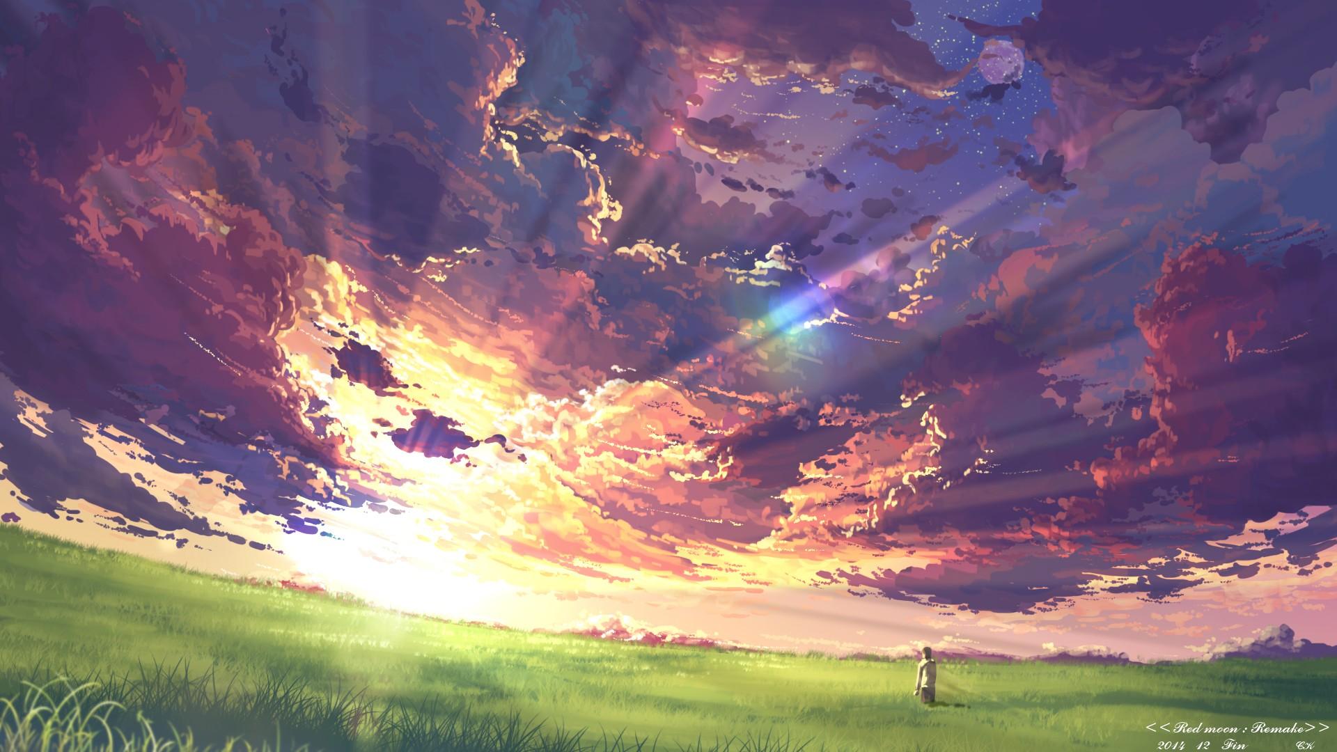 Sfondi tramonto anime