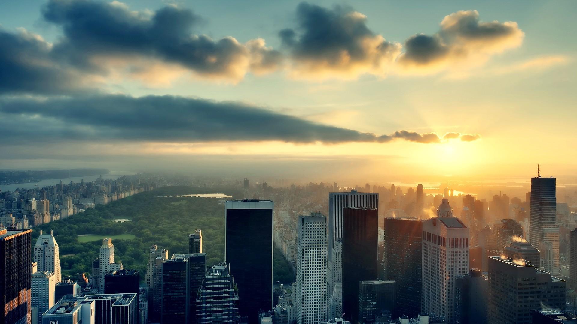 Красивый рассвет в городе картинки