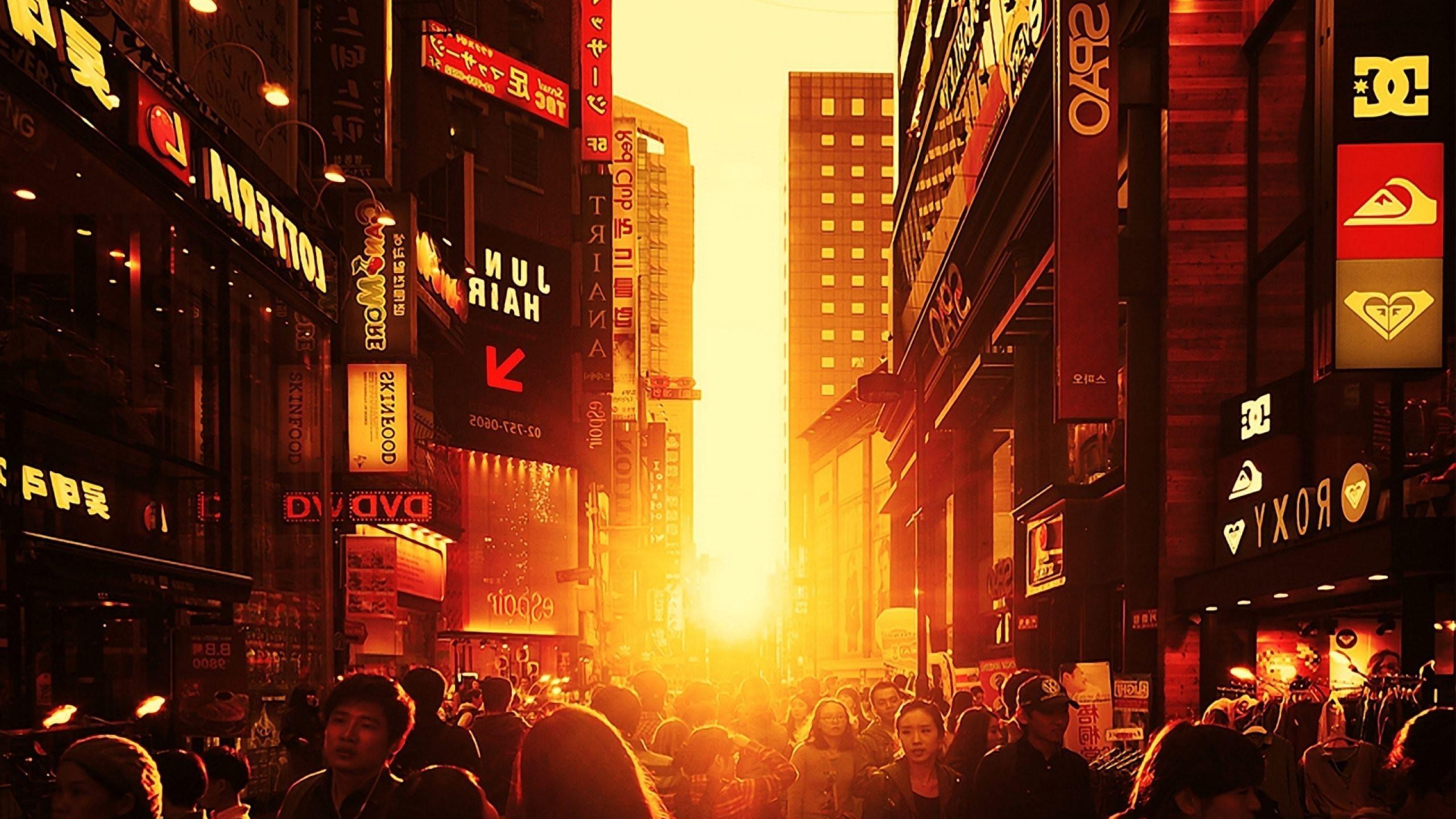 Simple Wallpaper Night Evening - sunlight-sunset-city-street-night-evening-orange-Seoul-South-Korea-pedestrian-crowd-2560x1440-px-517118  You Should Have-15746.jpg