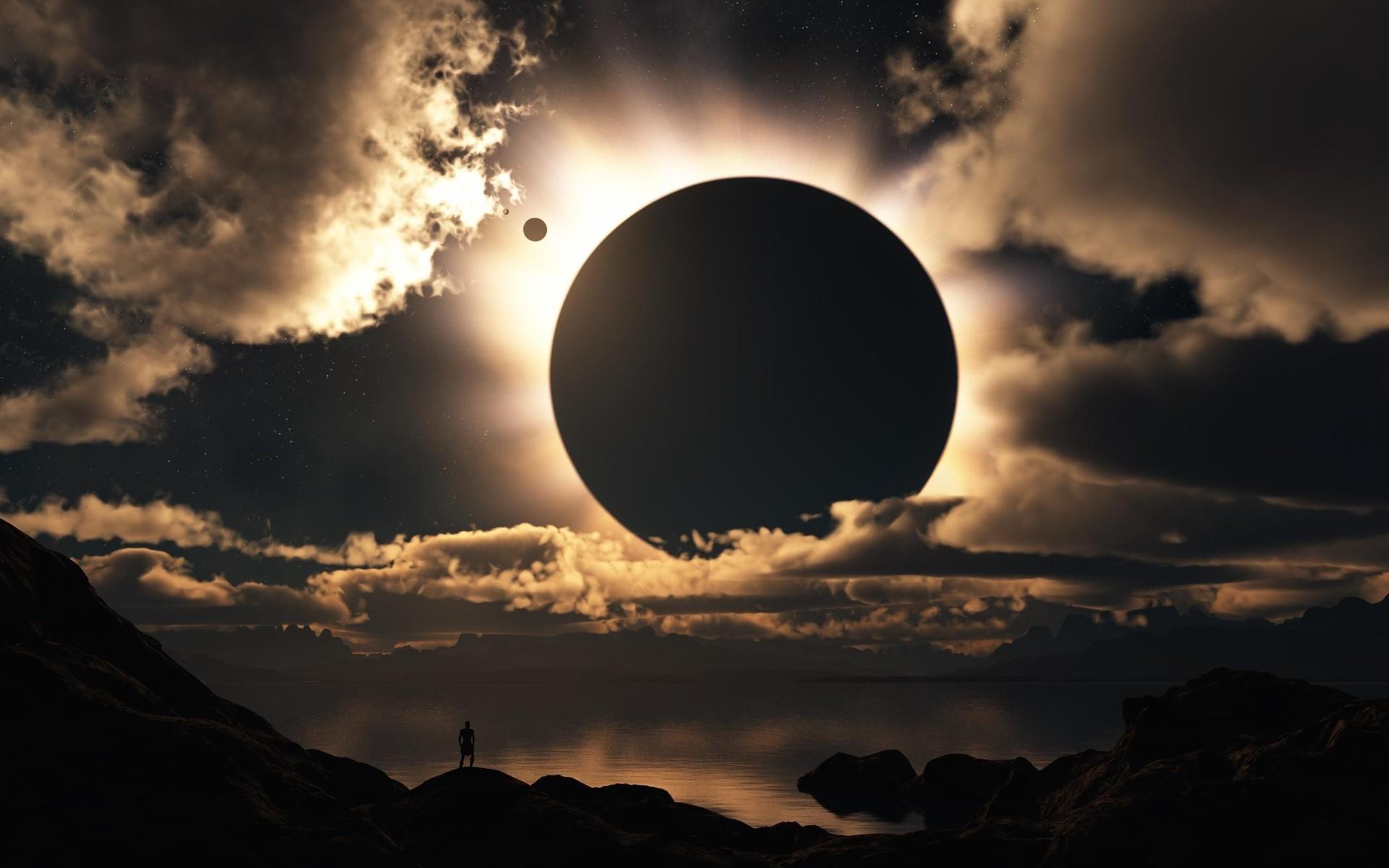 картинки солнечного затмения и лунного света