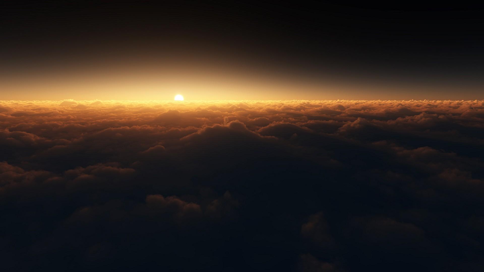 sun and night sky