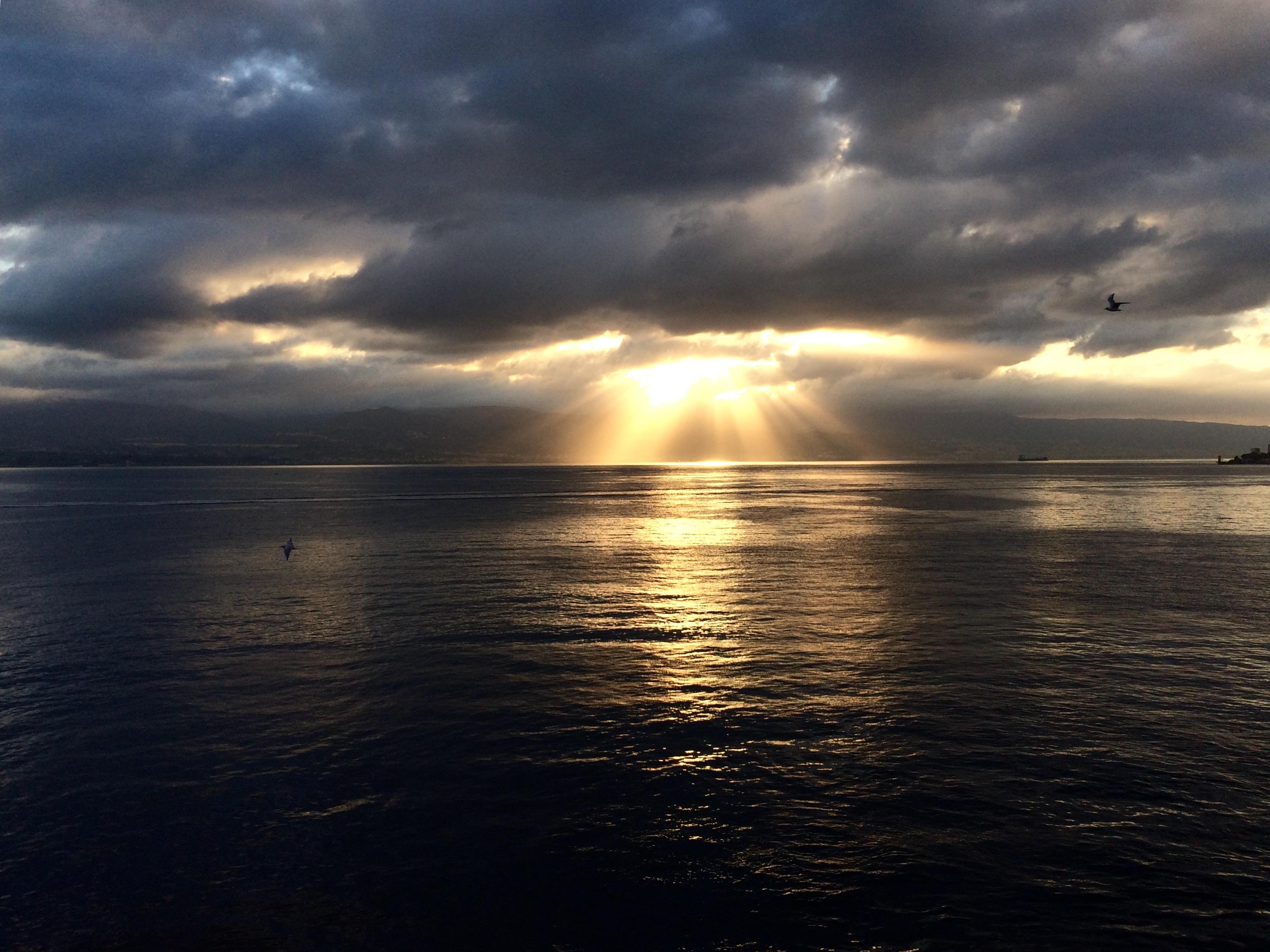 Sfondi Luce Del Sole Tramonto Mare Lago Acqua Puntellare