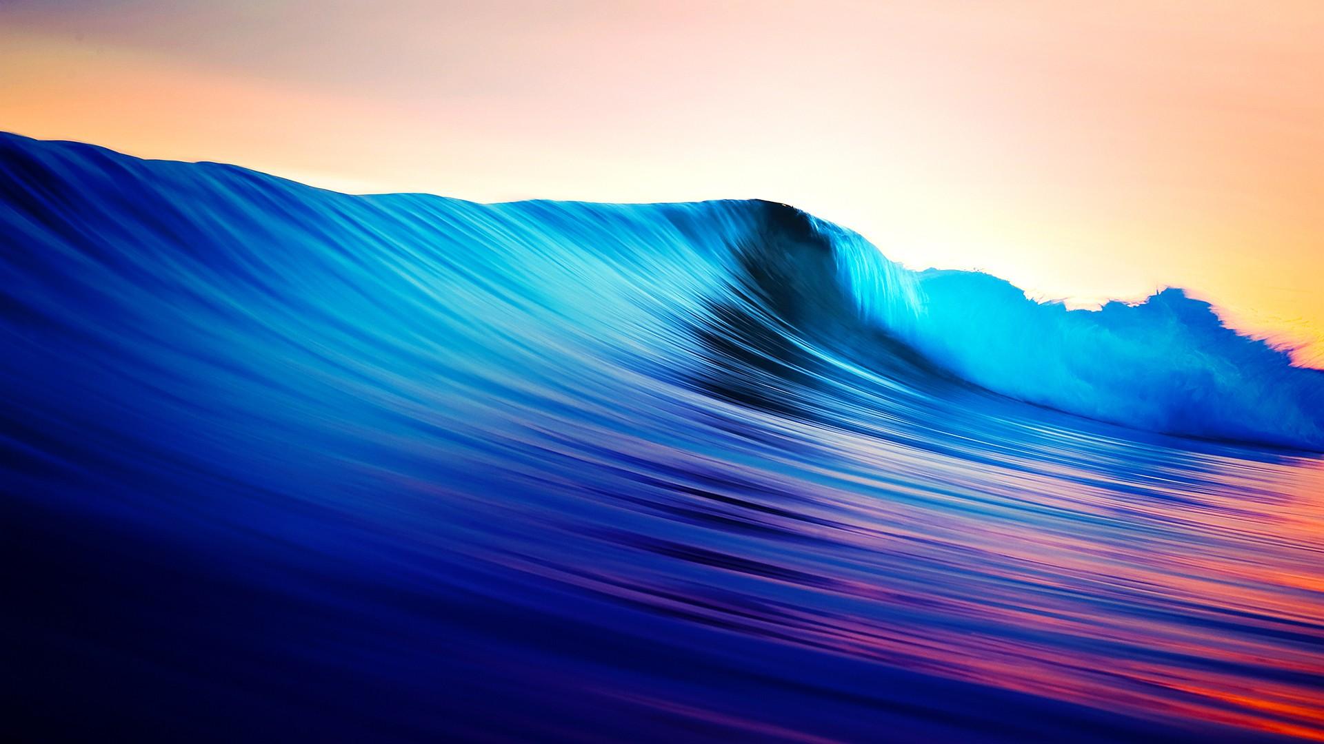 Обои волны, горизонт. Природа foto 19