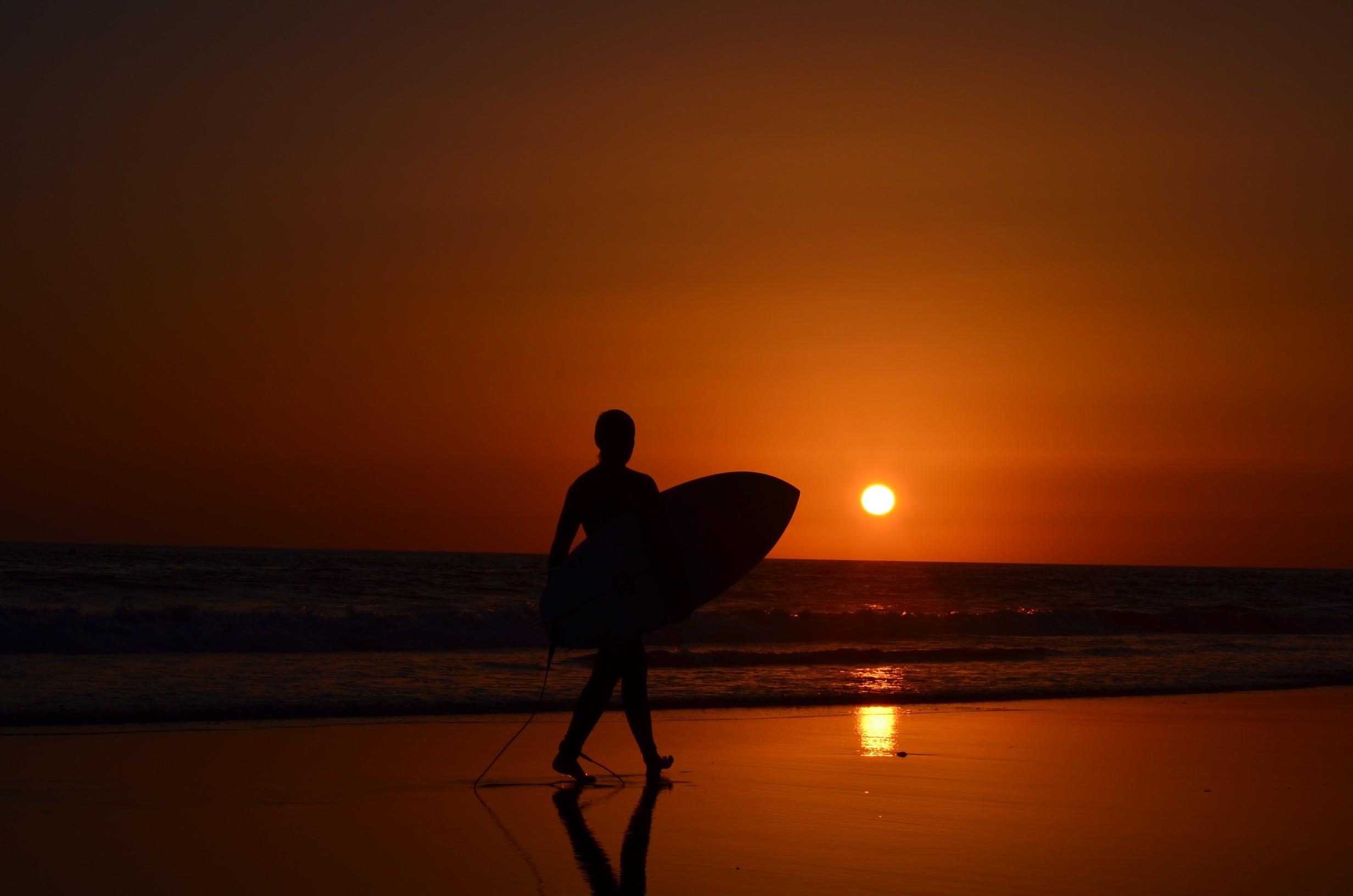Wallpaper Sunlight Sunset Sea Reflection Silhouette
