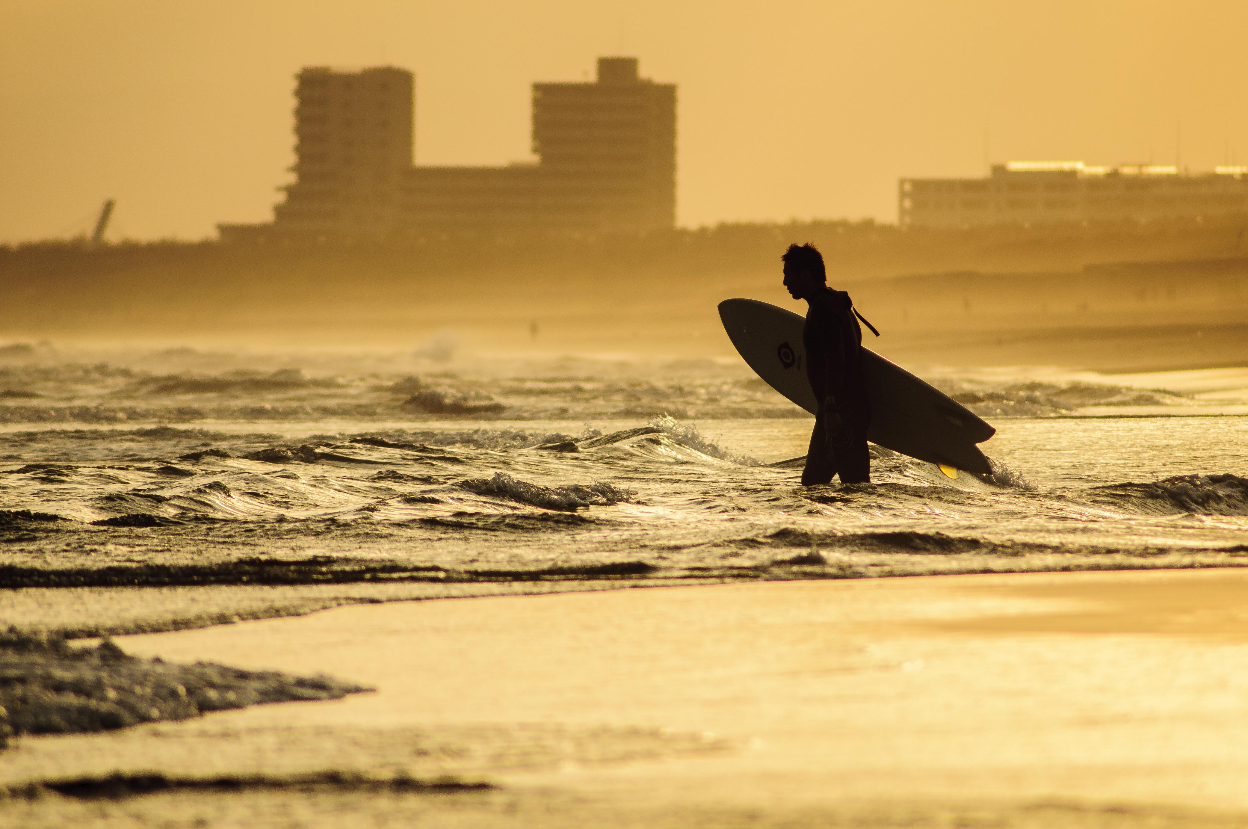 Wallpaper Sunlight Sunset Sea Shore Sand Silhouette
