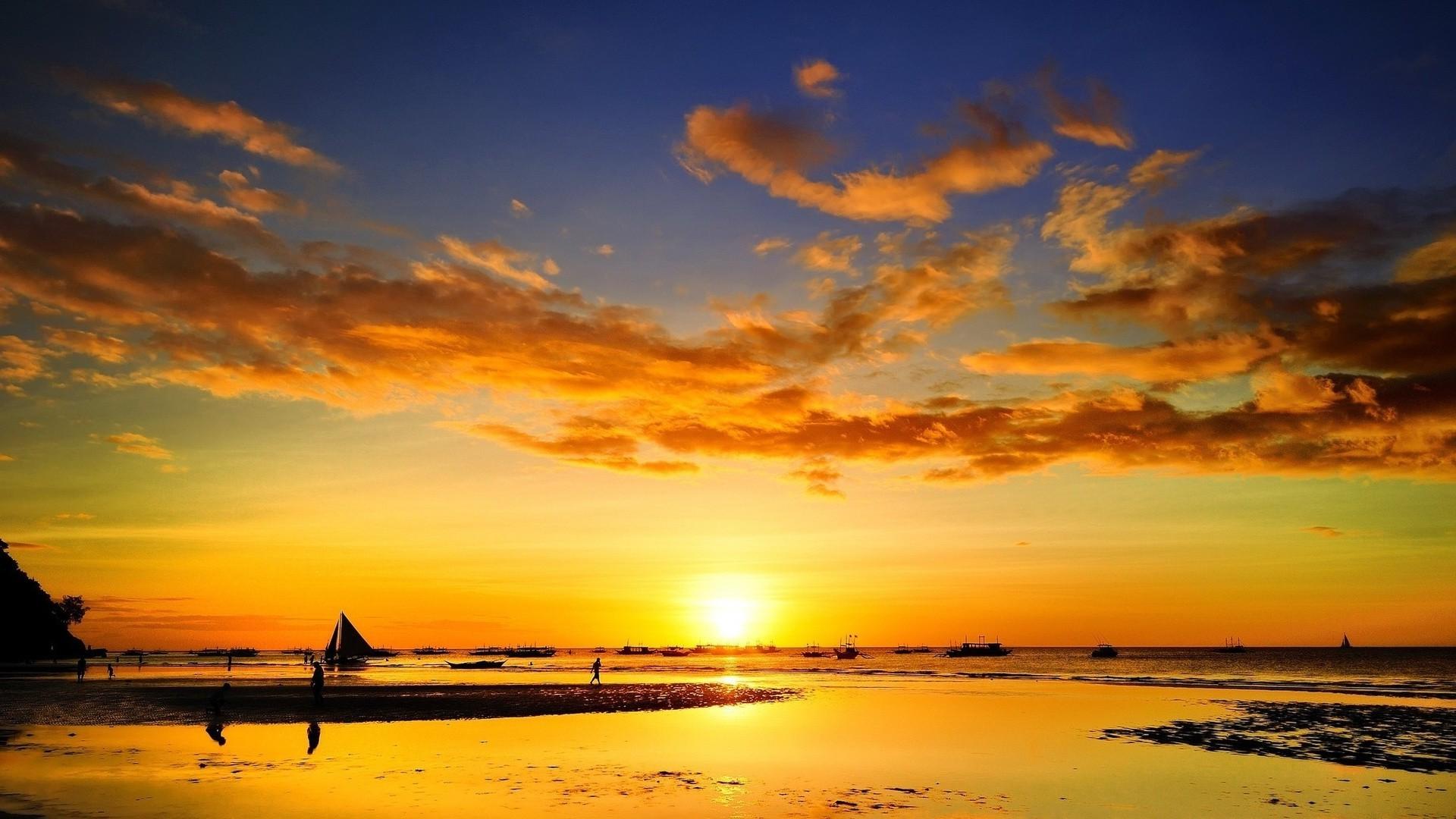 Fond d 39 cran lumi re du soleil le coucher du soleil mer ciel plage lever du soleil soir - Coucher bebe sur le cote ...
