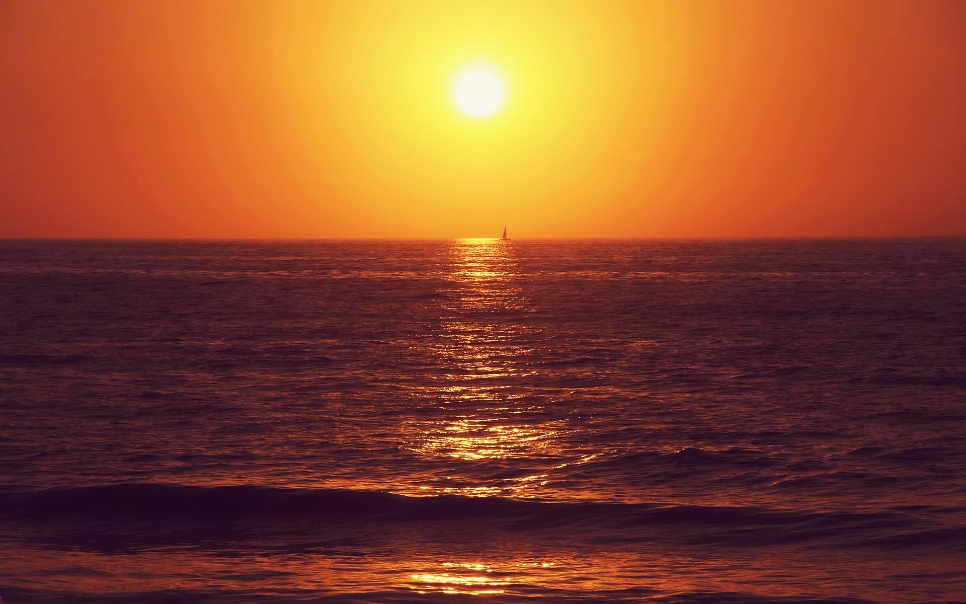 Открытка закат над морем, открытки для