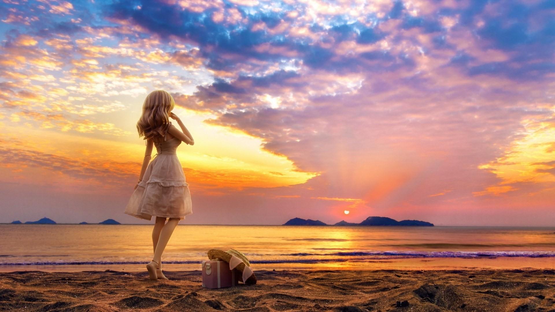 одни прекрасный картинки лето закат люди расчета обычным