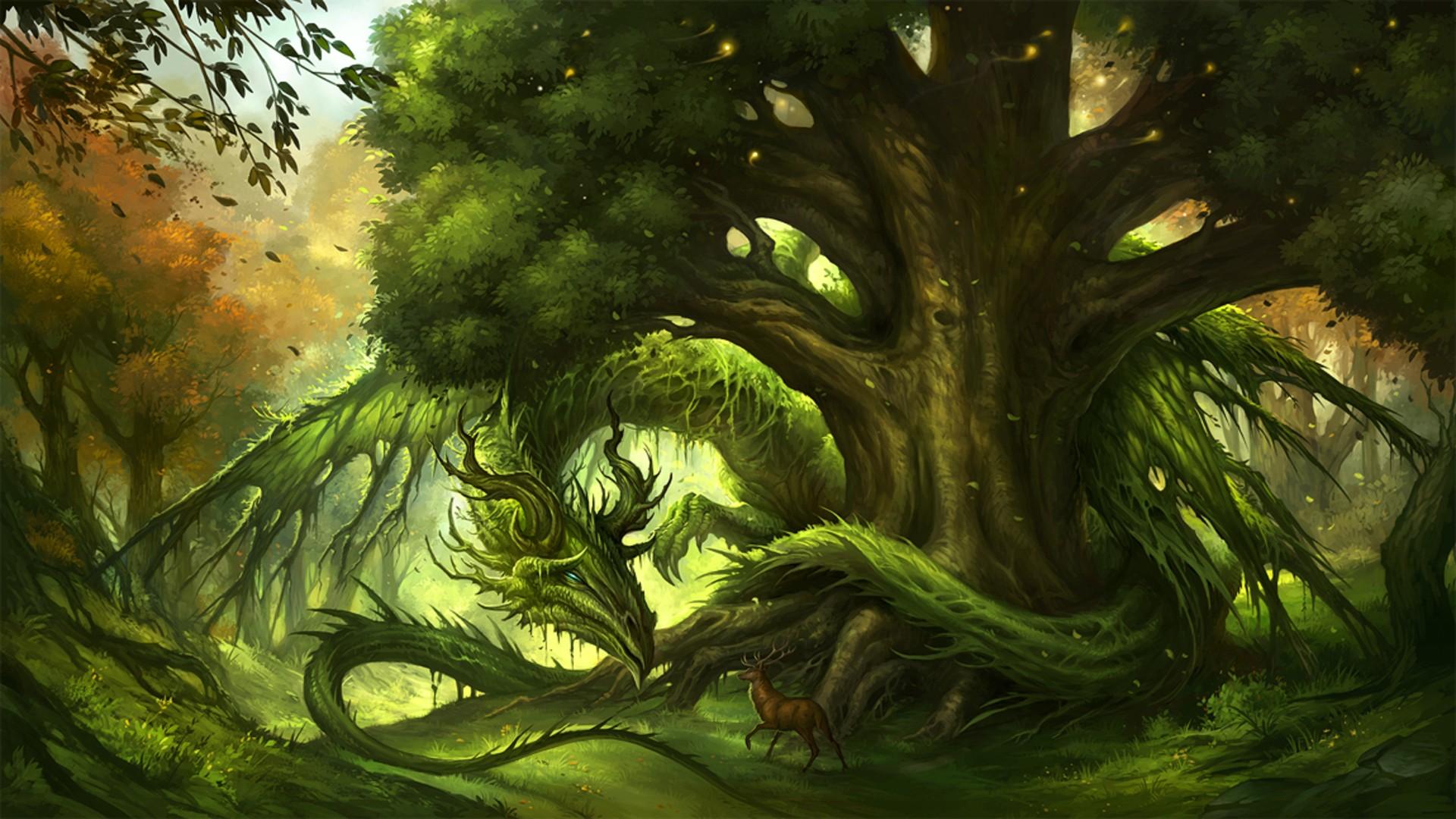 фэнтези лес рисунок узнаете