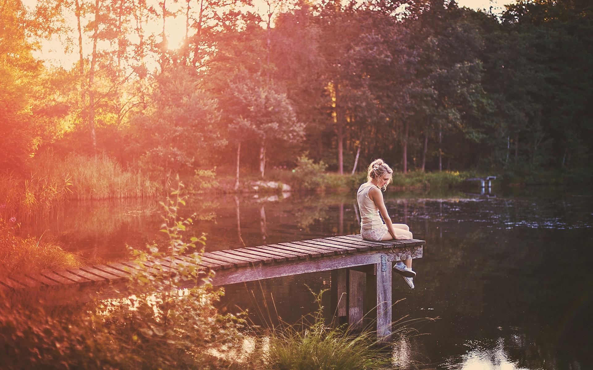 Wallpaper : sunlight, trees, women outdoors, long hair